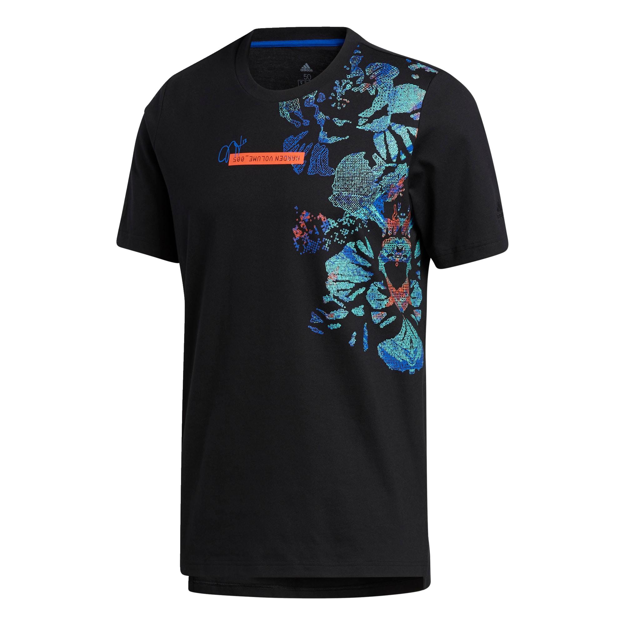 ADIDAS PERFORMANCE Funkční tričko 'HARDEN'  černá / modrá / lososová / nefritová
