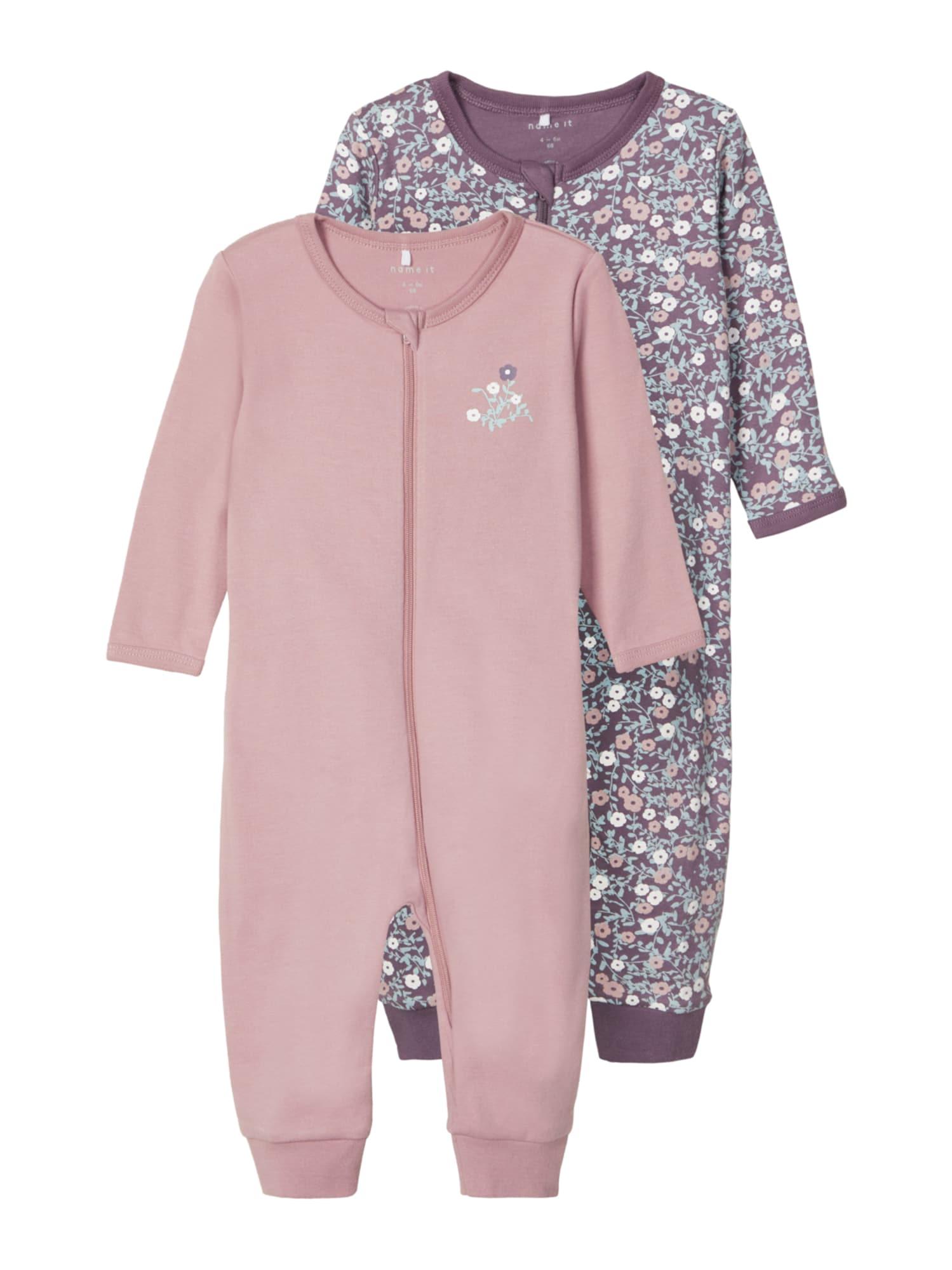 NAME IT Miego kostiumas rožinė / mišrios spalvos / slyvų spalva