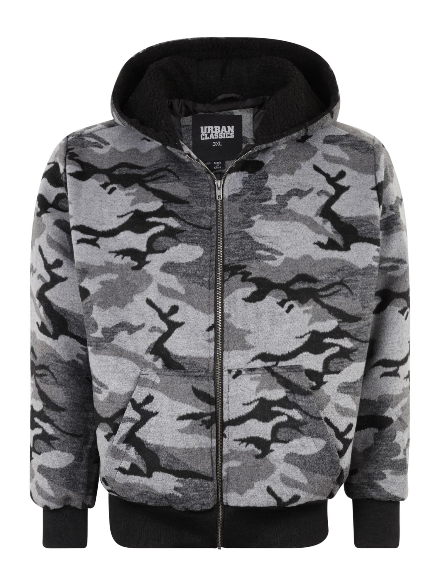 Urban Classics Big & Tall Džemperis šviesiai pilka / bazalto pilka / juoda / tamsiai pilka