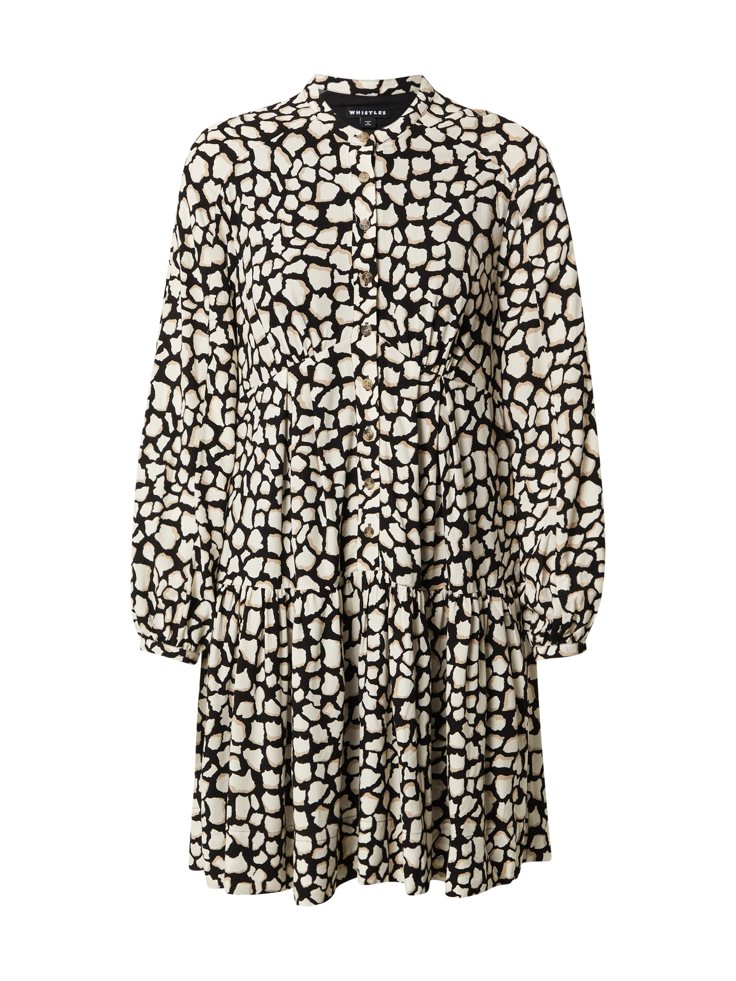Whistles Suknelė juoda / natūrali balta / smėlio spalva