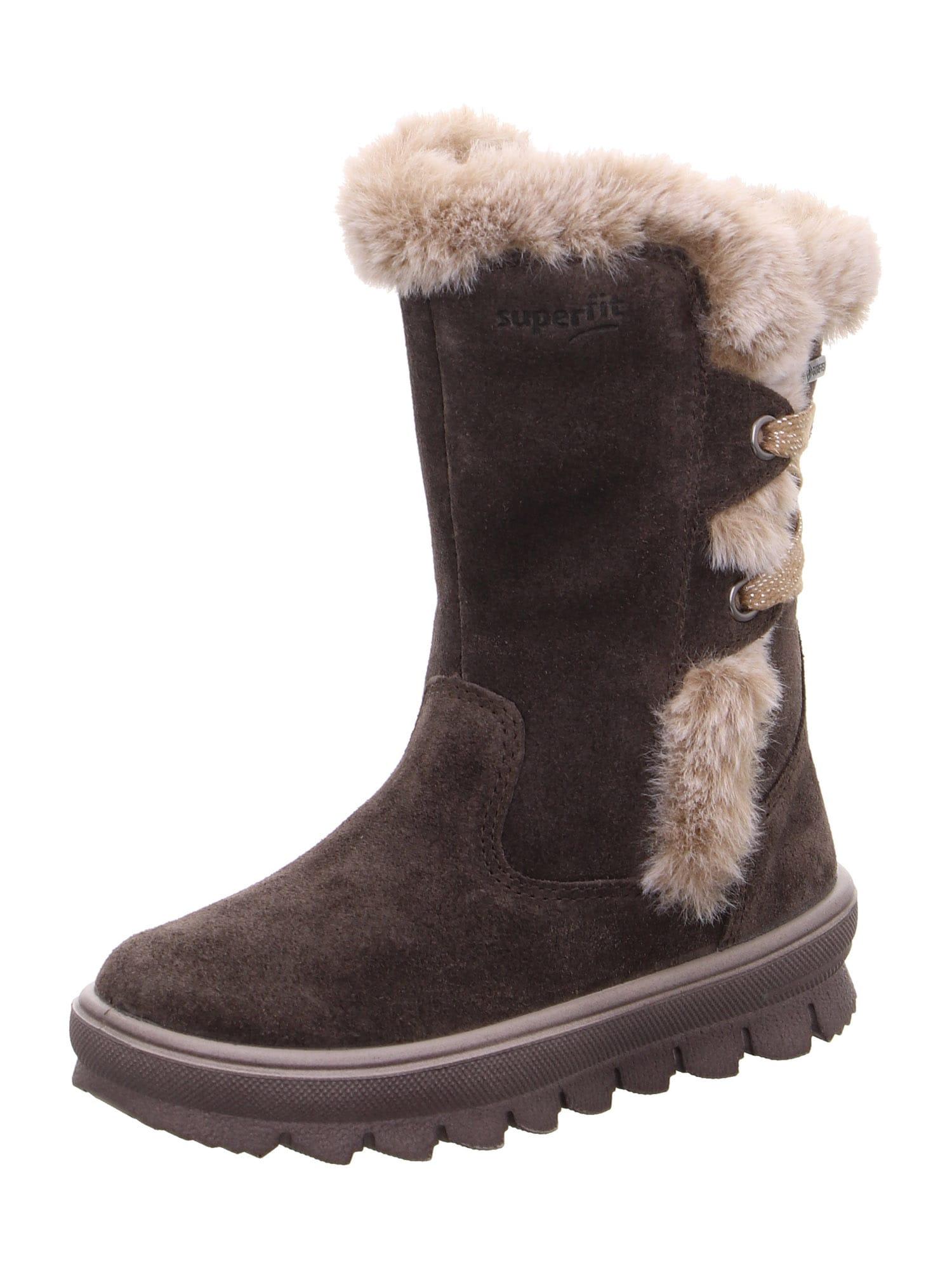 SUPERFIT Auliniai batai su kulniuku 'FLAVIA' tamsiai ruda / kapučino spalva