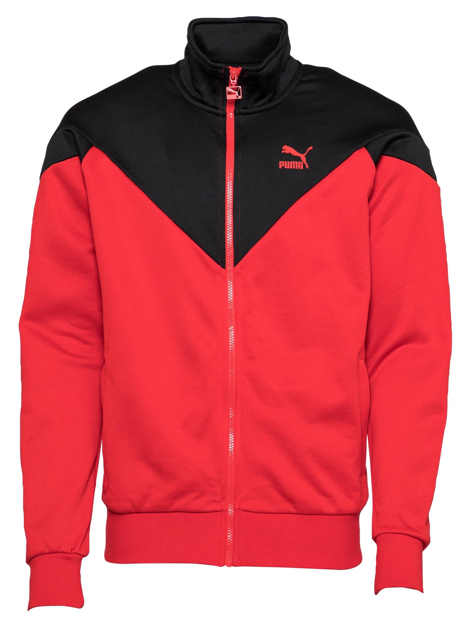 PUMA Džemperis raudona / juoda