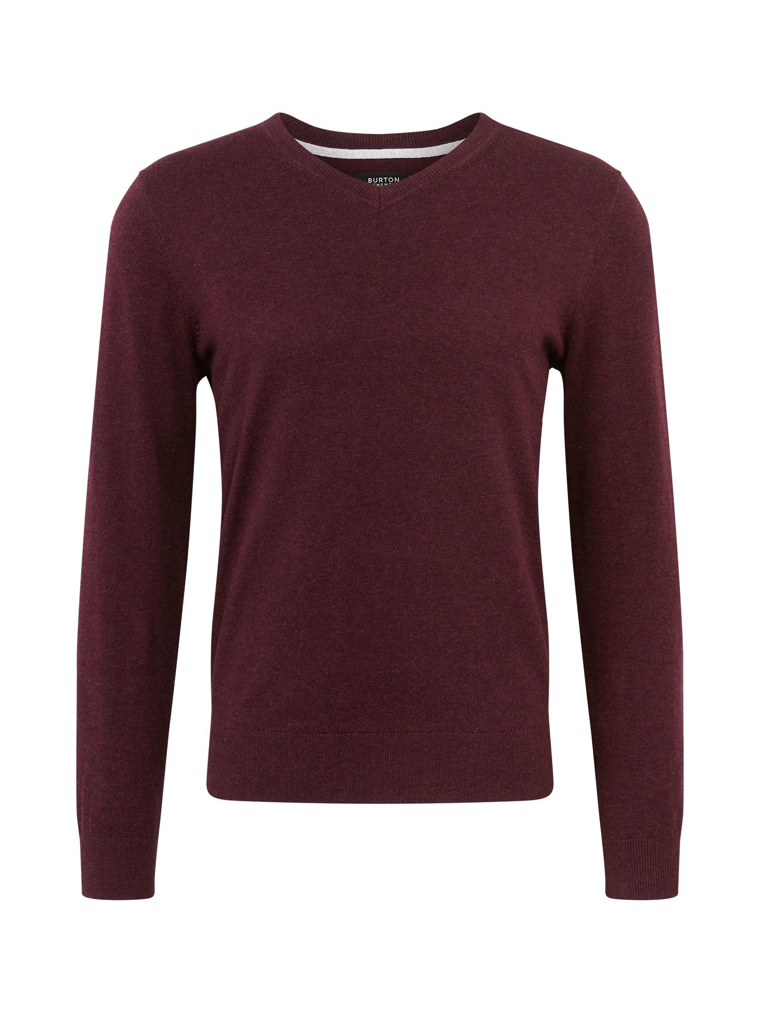 BURTON MENSWEAR LONDON Marškinėliai burgundiško vyno spalva