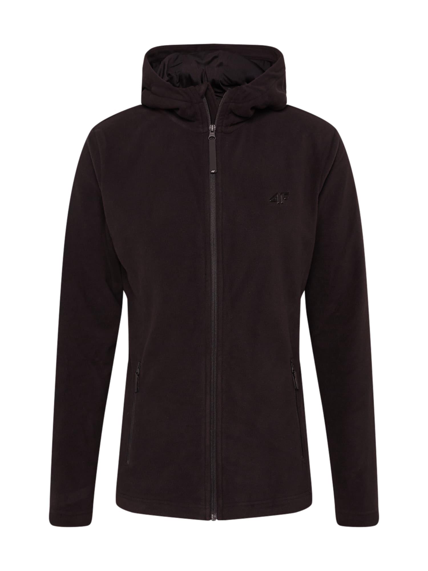 4F Funkcinis flisinis džemperis juoda