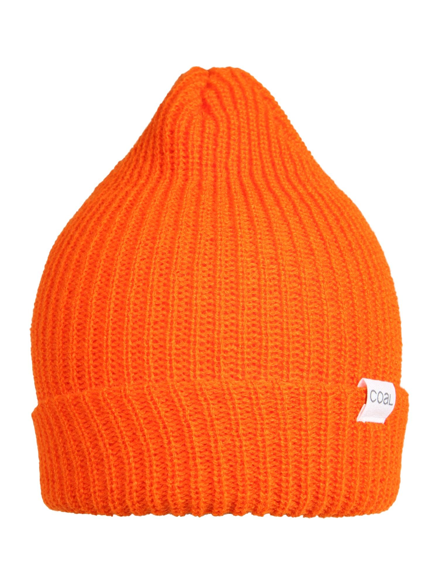 Coal Sportovní čepice  tmavě oranžová / bílá