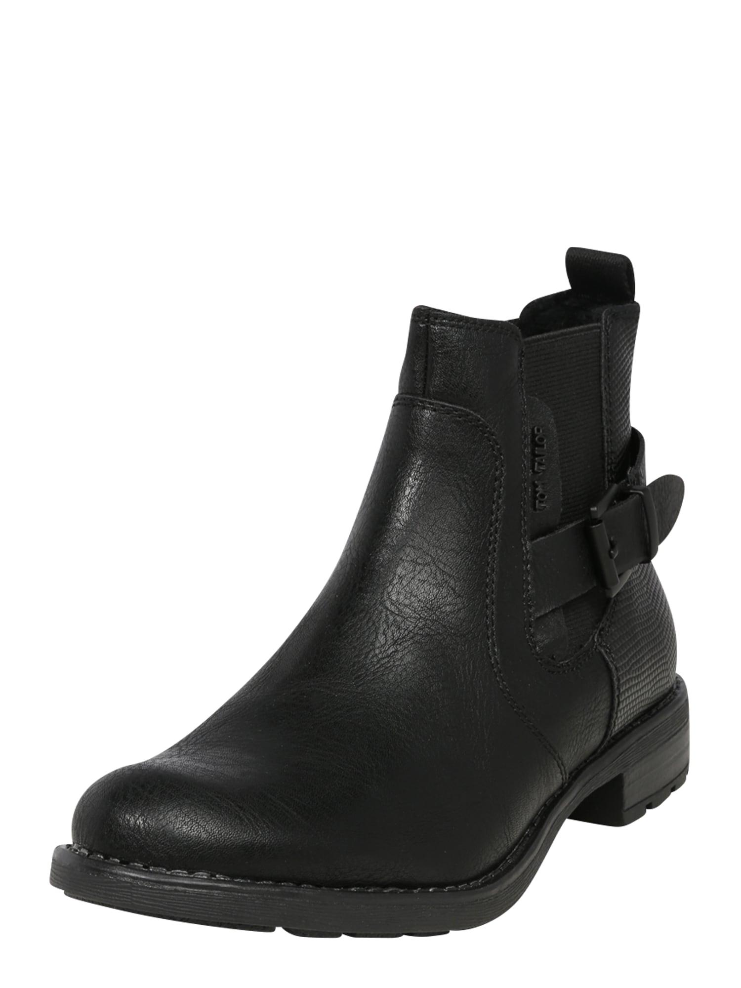 TOM TAILOR Kulkšnis dengiantys batai juoda