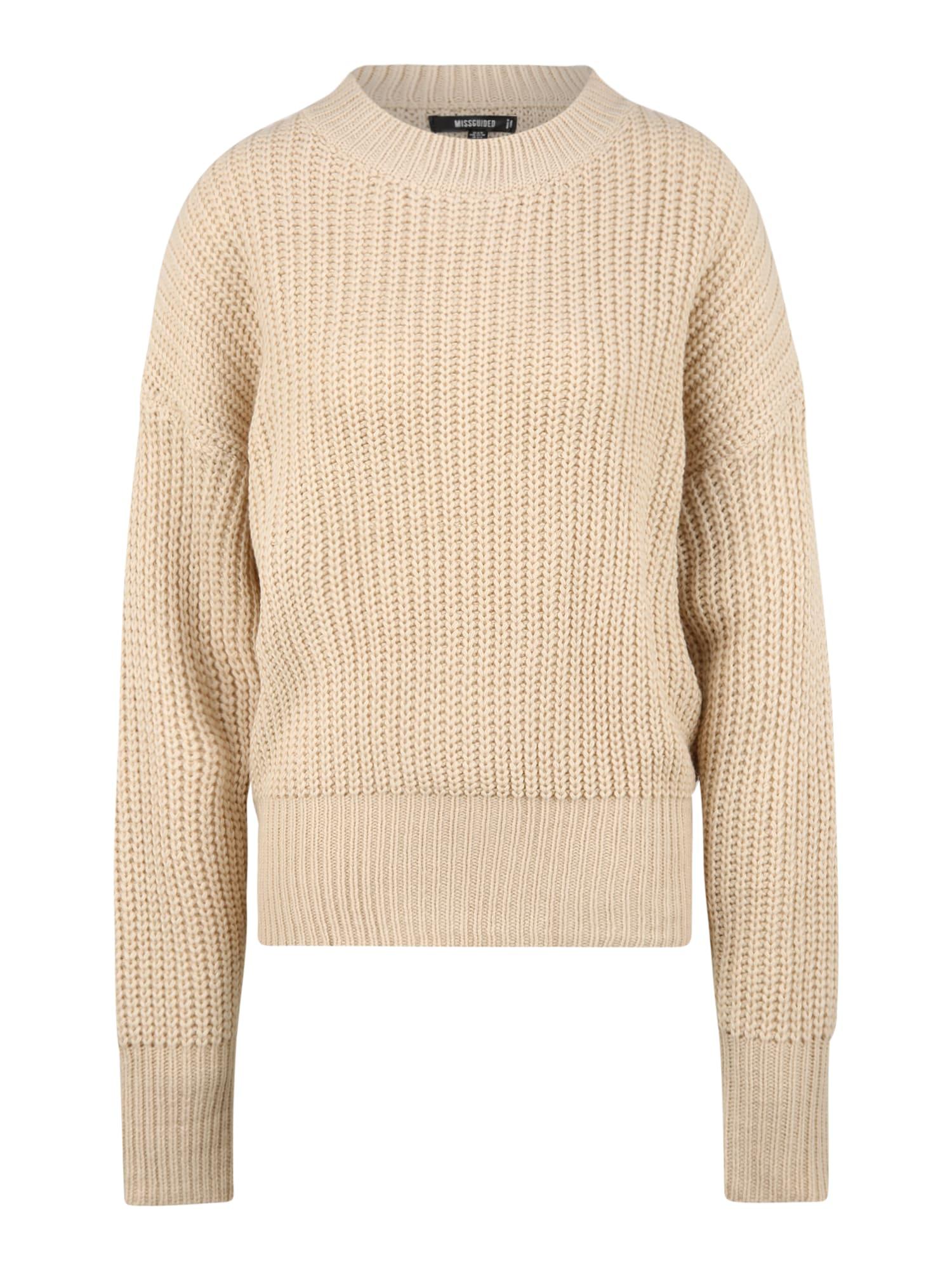 Missguided (Petite) Megztinis smėlio