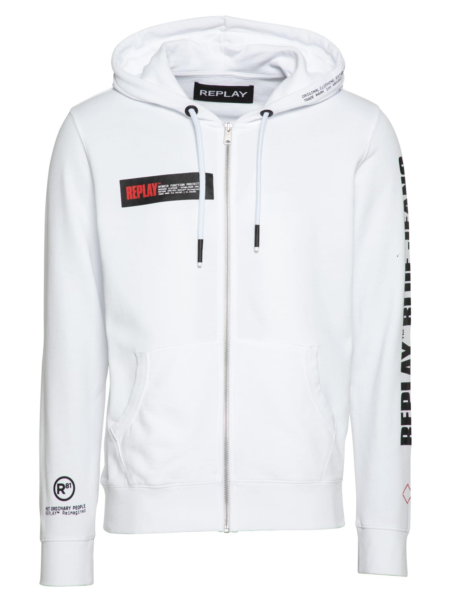 REPLAY Džemperis balta / juoda