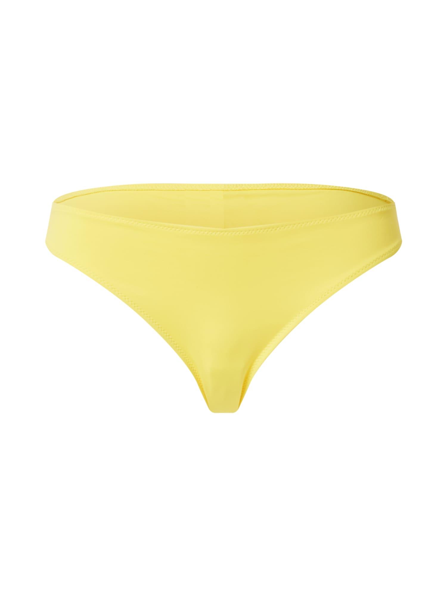 Calvin Klein Swimwear Bikinio kelnaitės geltona / juoda
