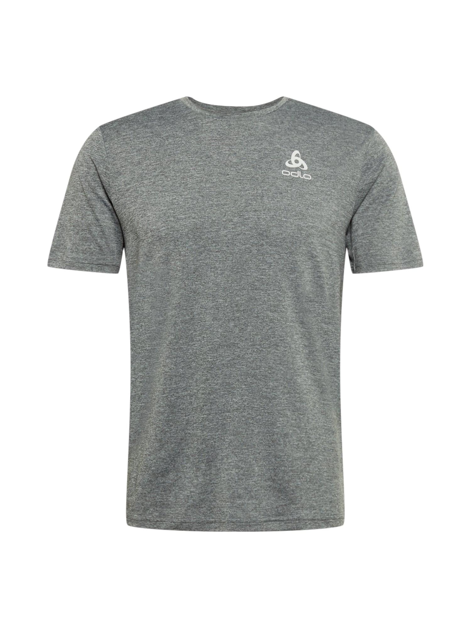 ODLO Sportiniai marškinėliai margai pilka / balta