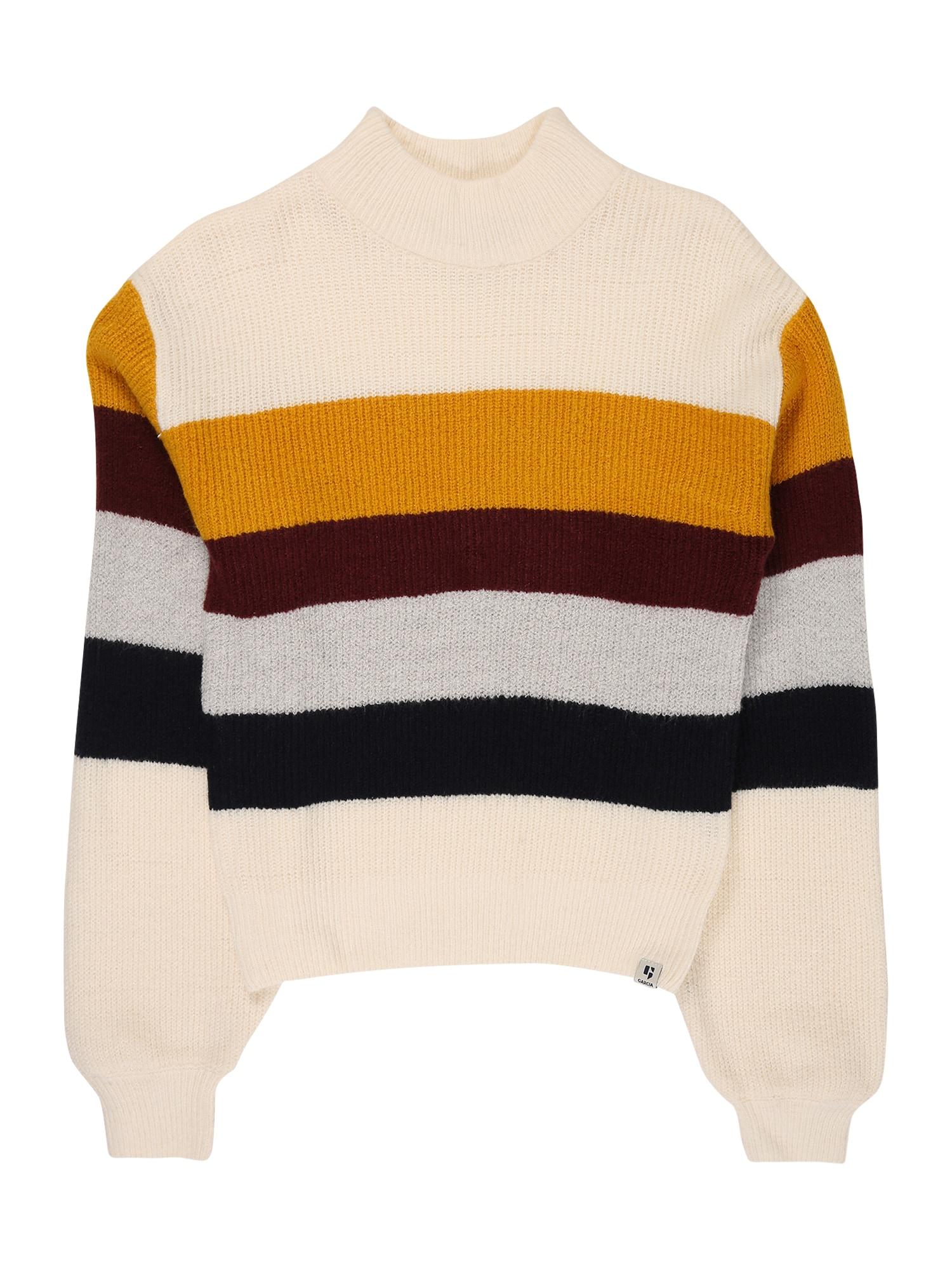 GARCIA Megztinis balkšva / geltona / raudona / mėlyna