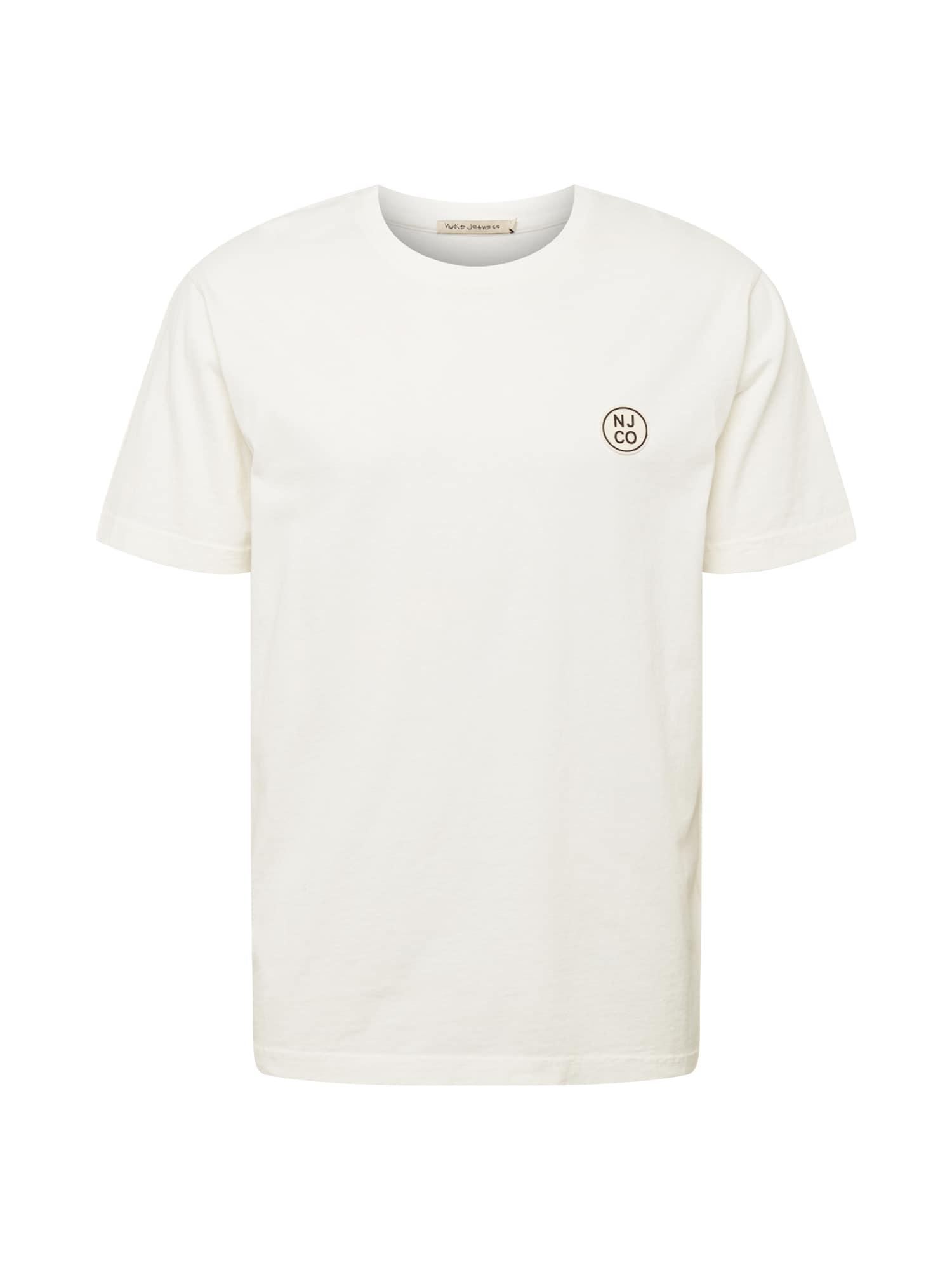 Nudie Jeans Co Marškinėliai balta