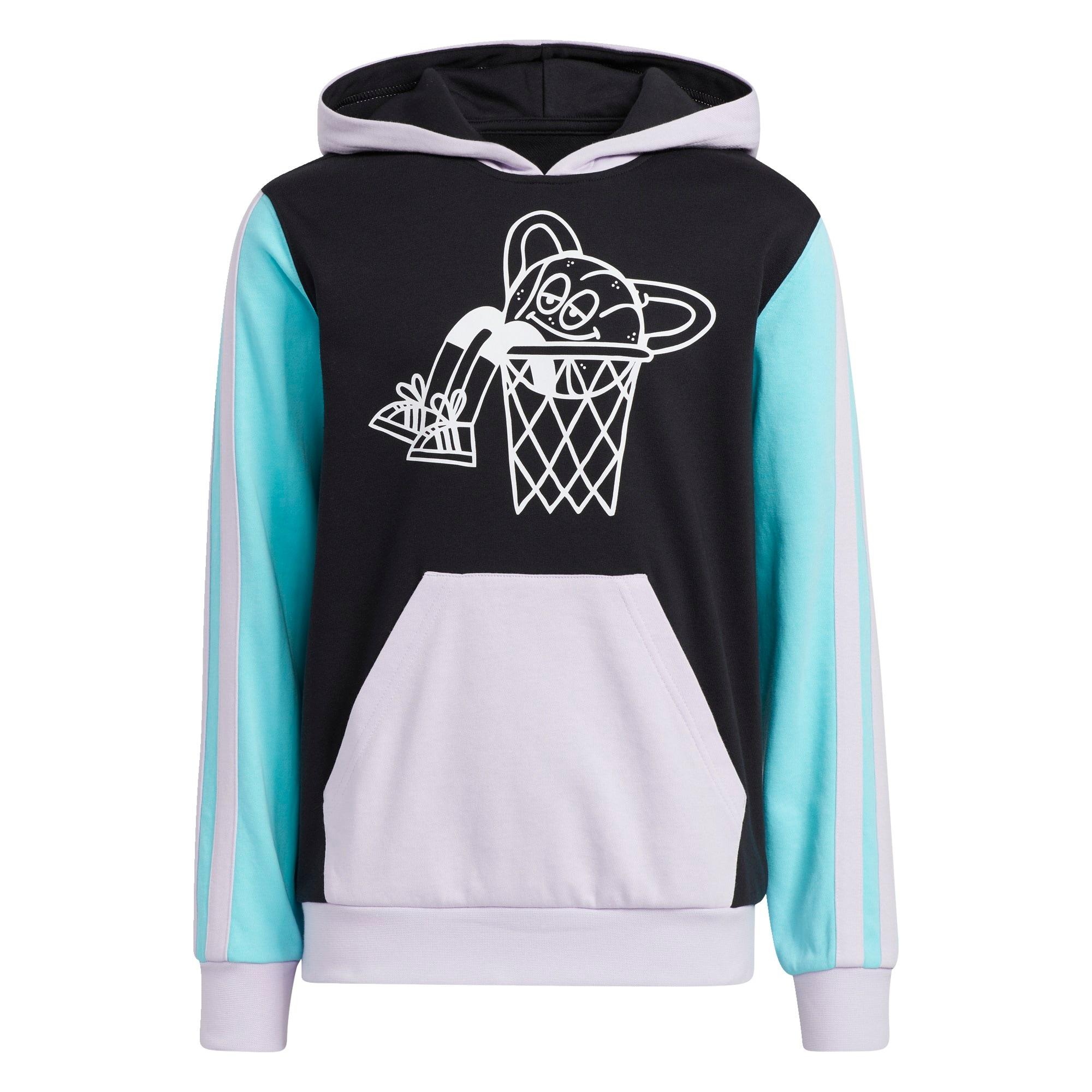 ADIDAS PERFORMANCE Sportinio tipo megztinis juoda / balta / turkio spalva