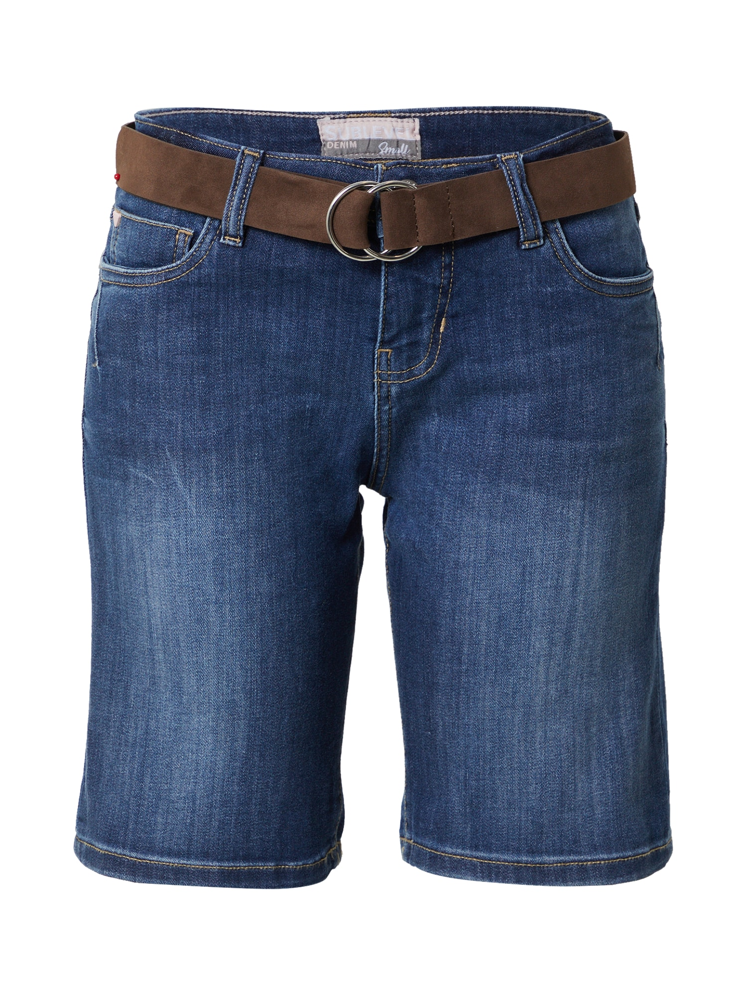 Sublevel Džinsai tamsiai (džinso) mėlyna / ruda