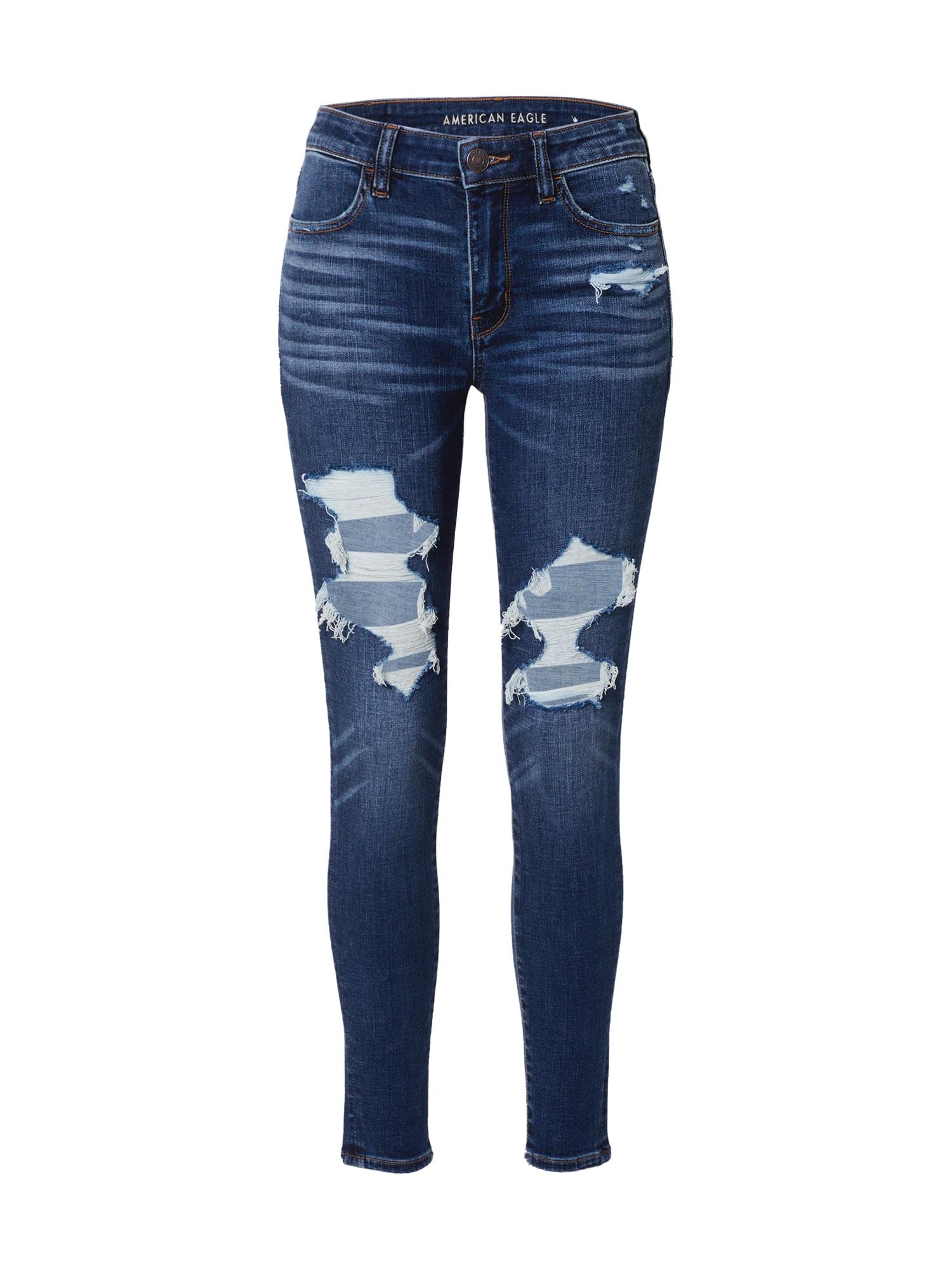 American Eagle Kelnės mėlyna / tamsiai (džinso) mėlyna
