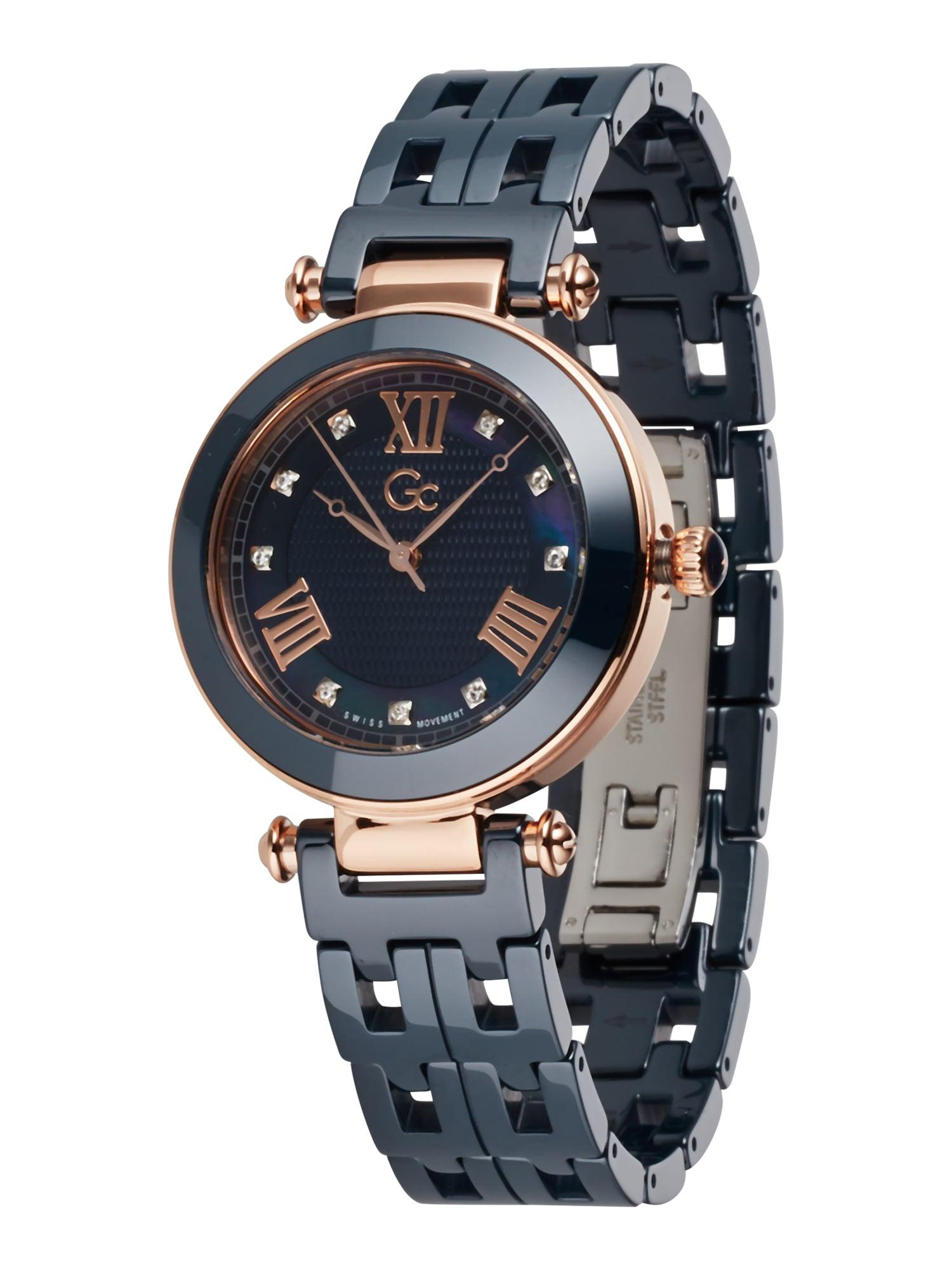 Gc Analoginis (įprasto dizaino) laikrodis 'PrimeChic' tamsiai mėlyna / rožinio aukso spalva / balta