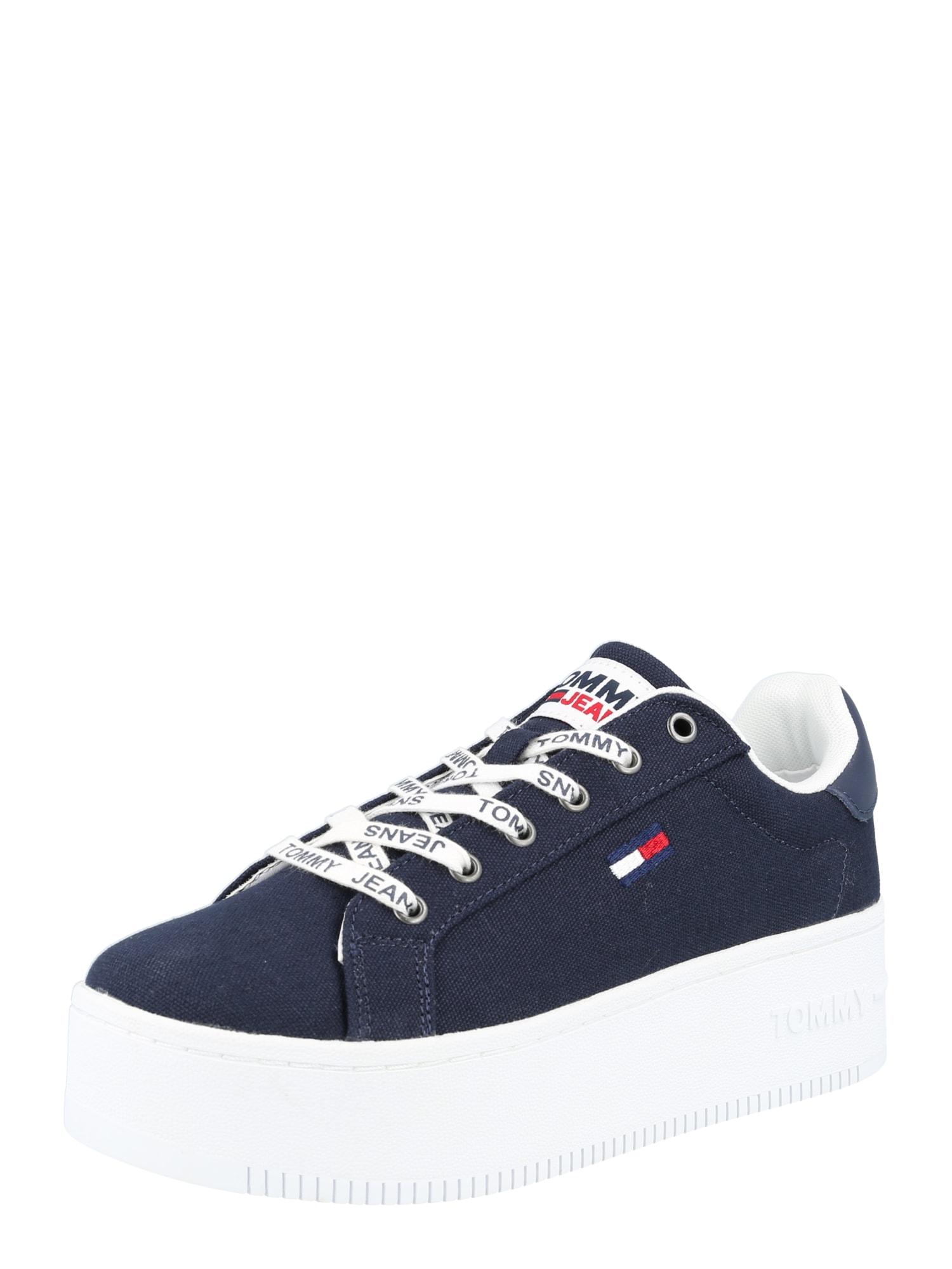 Tommy Jeans Sportbačiai su auliuku tamsiai mėlyna / balta / raudona