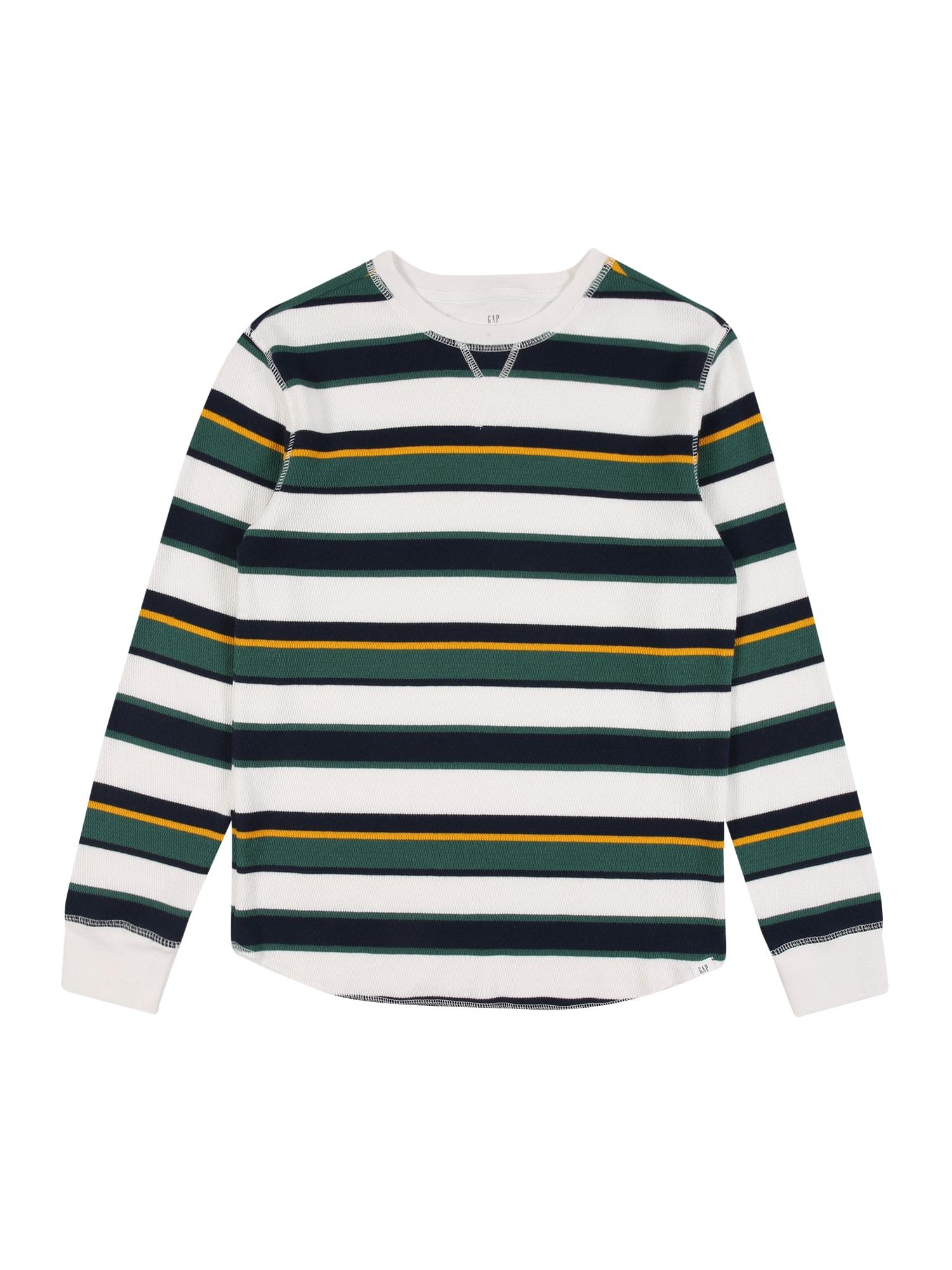 GAP Tričko  bílá / černá / žlutá / trávově zelená