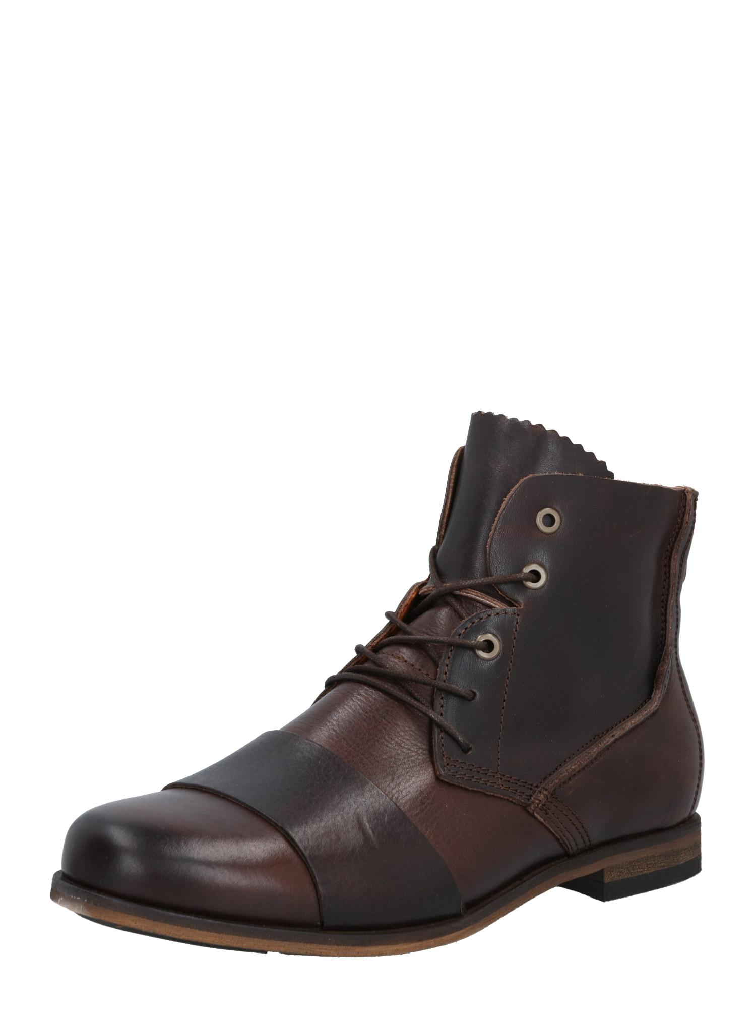 HUB Auliniai batai su raišteliais tamsiai ruda