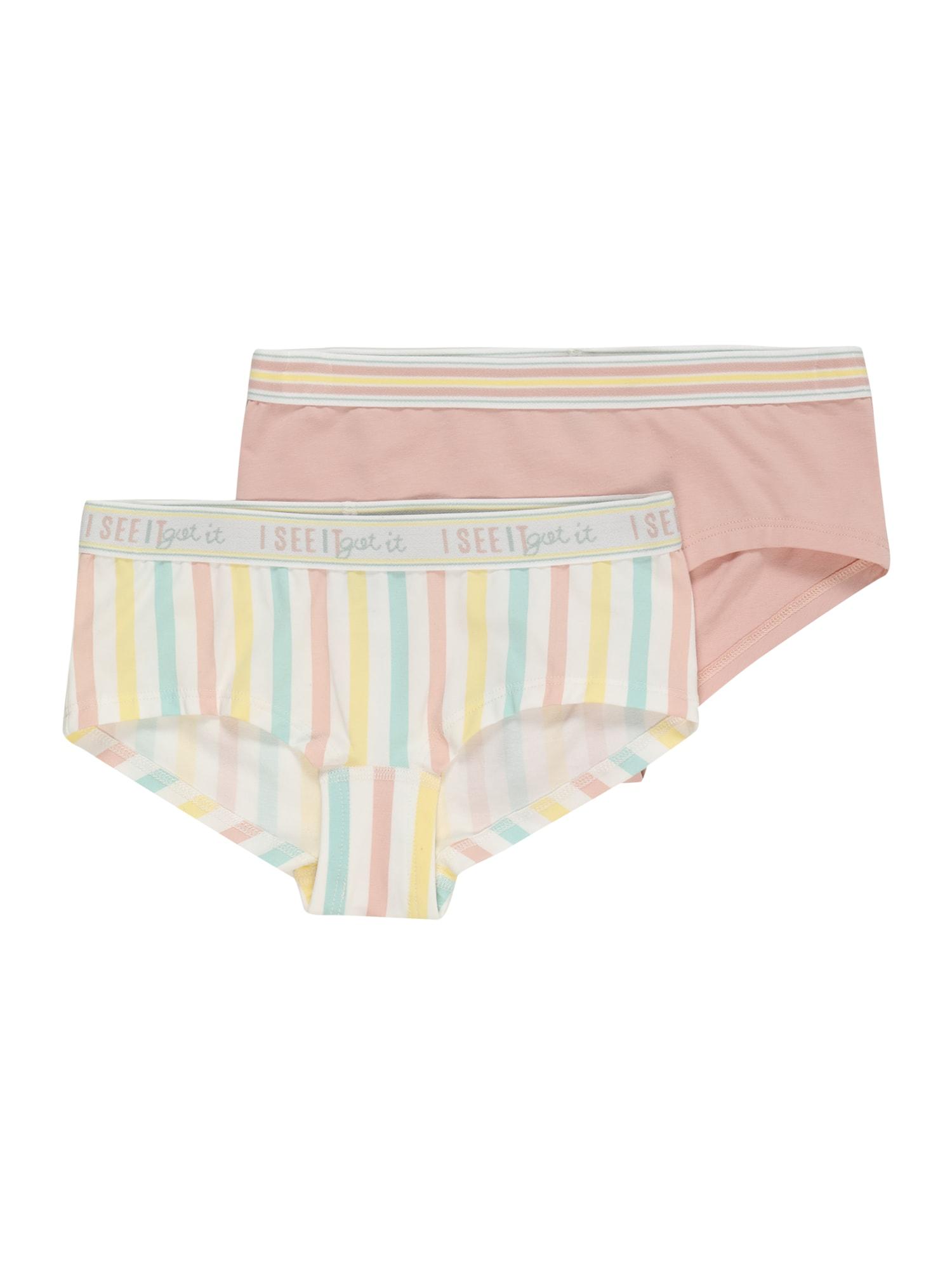 SANETTA Apatinės kelnaitės ryškiai rožinė spalva / žaliosios citrinos spalva / balta / mėtų spalva