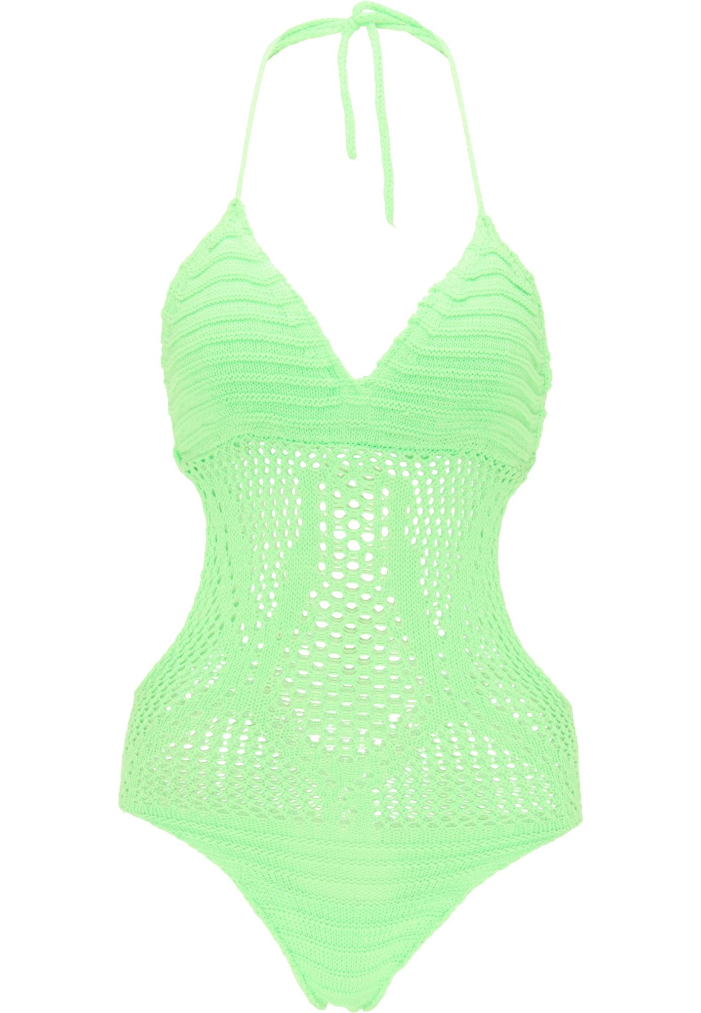 MYMO Marškinėliai-glaustinukė neoninė žalia
