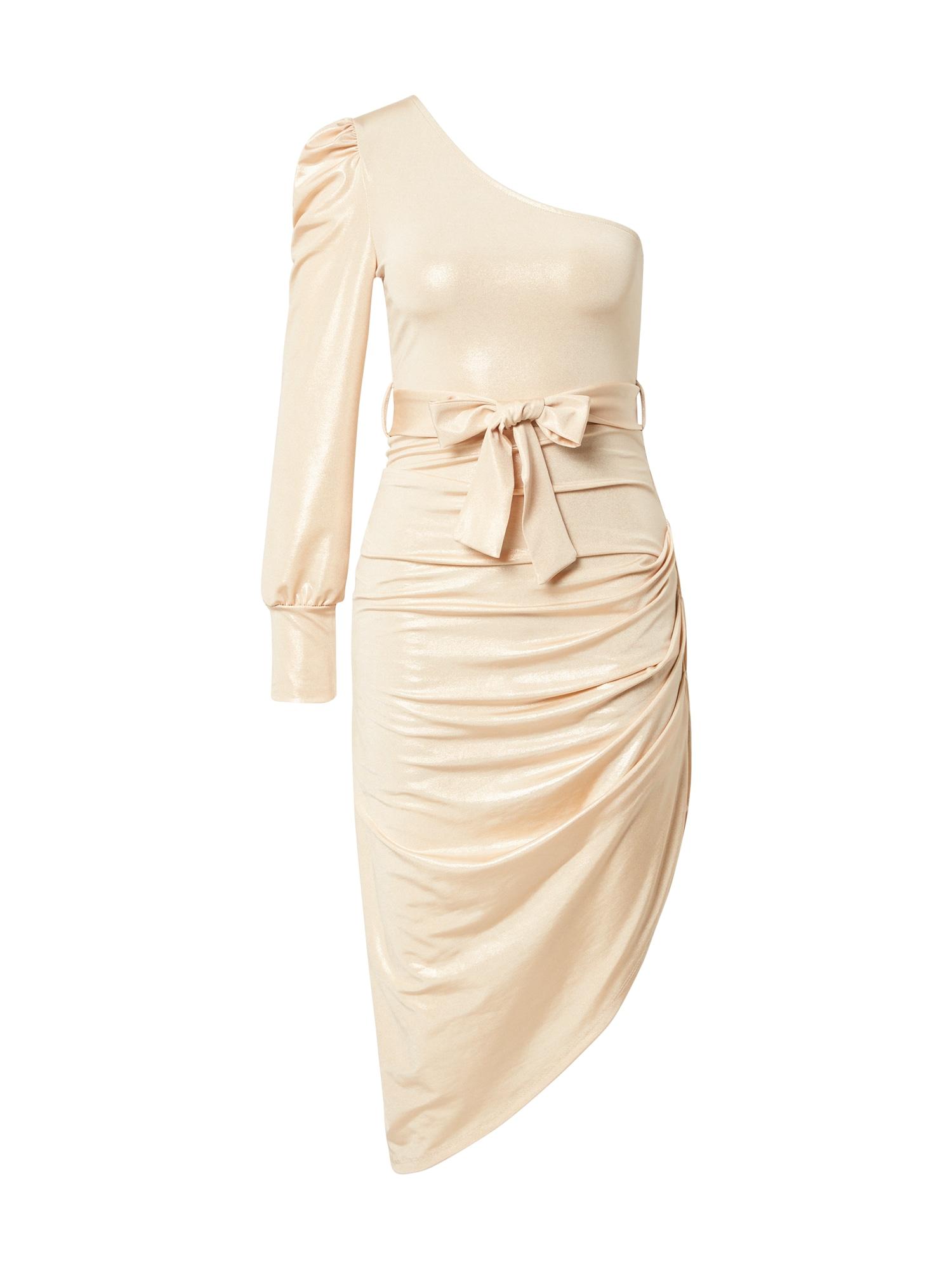 WAL G. Kokteilinė suknelė smėlio