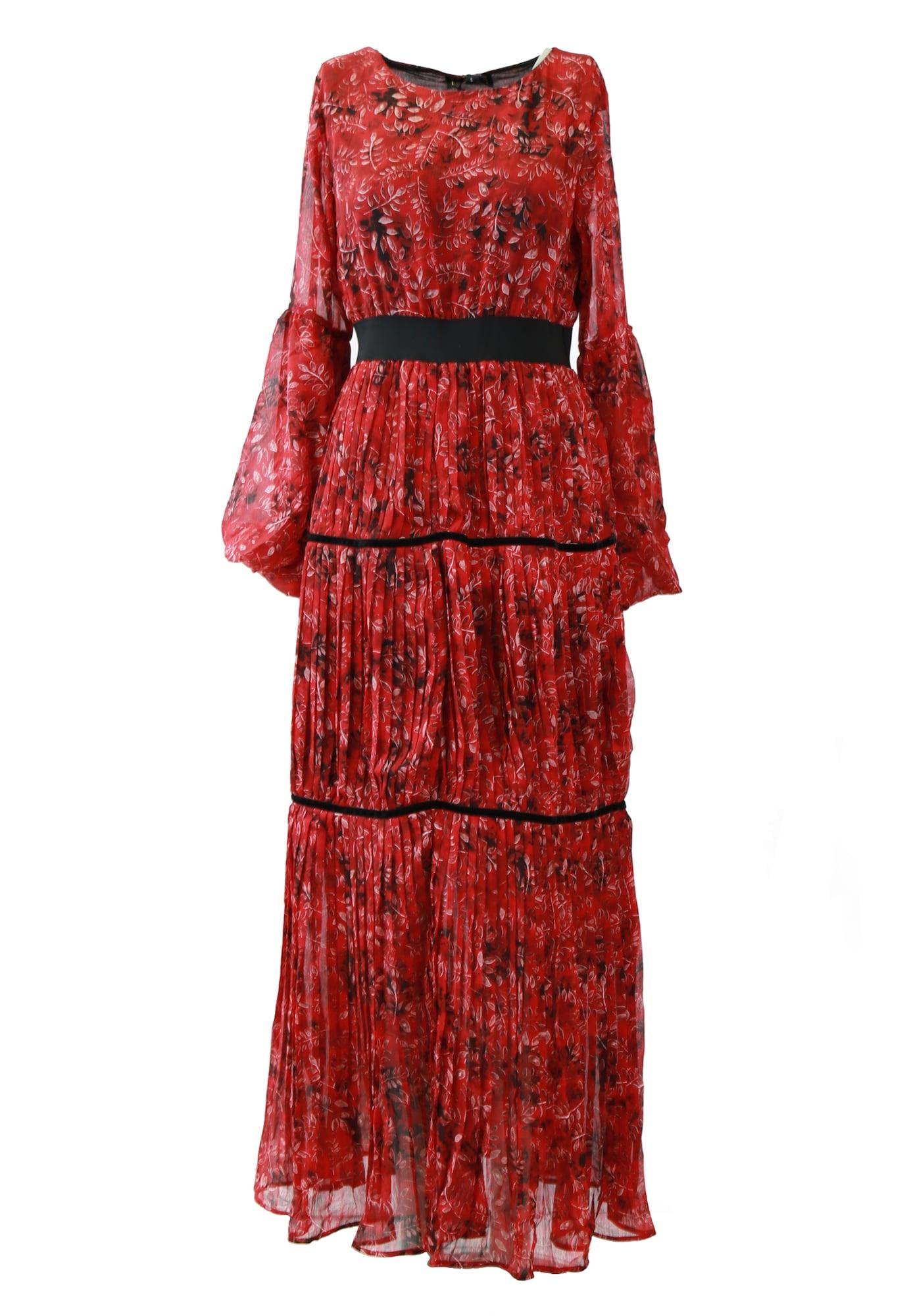 faina Suknelė raudona / juoda / perlų balta