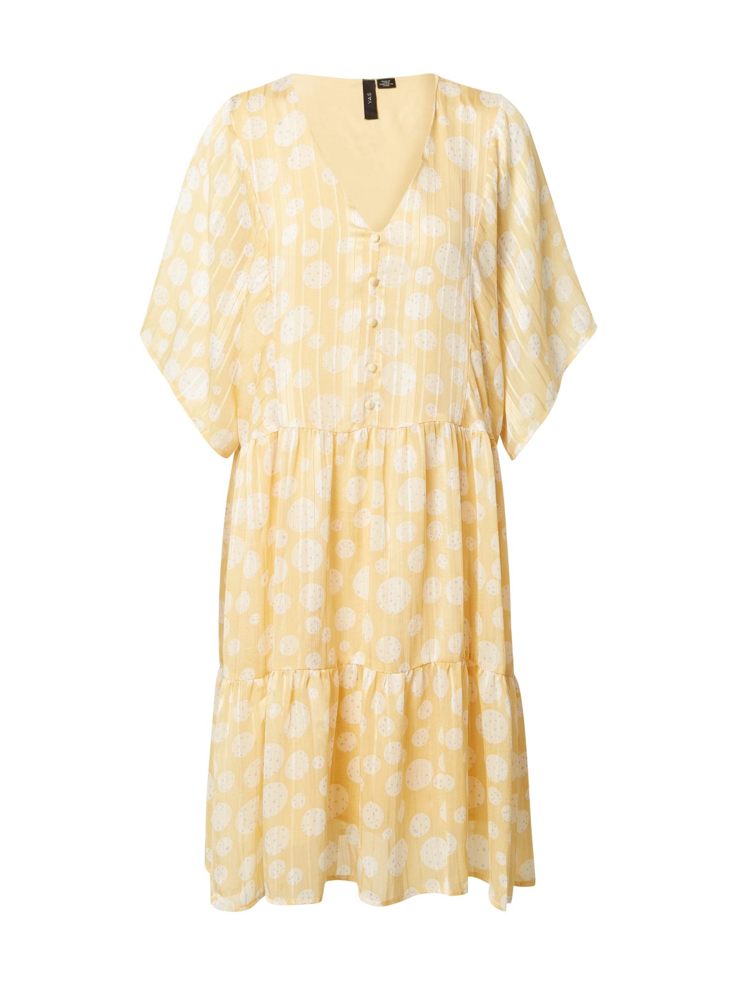 Y.A.S Vasarinė suknelė 'Camela' geltona / balta