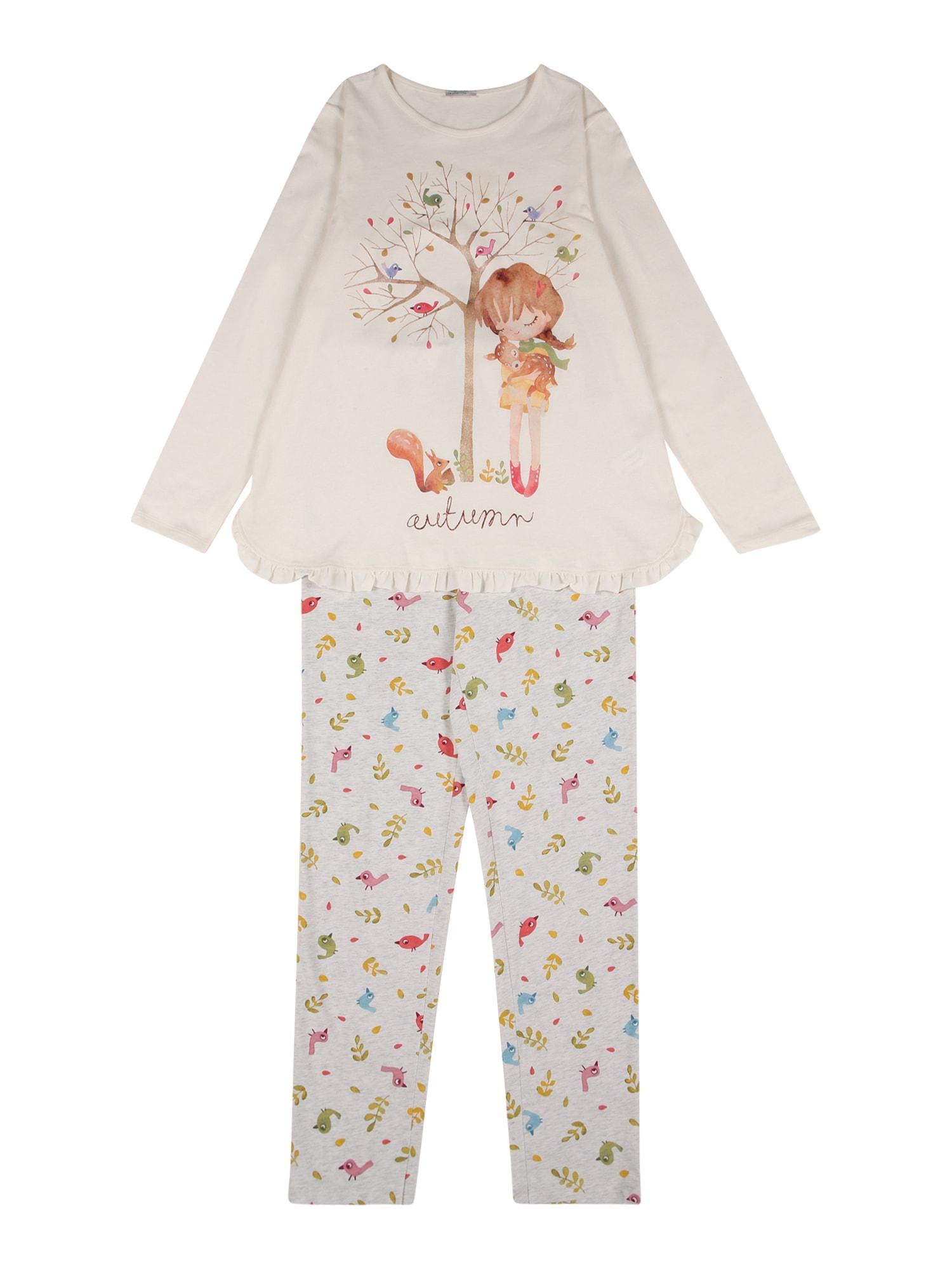UNITED COLORS OF BENETTON Miego kostiumas marga smėlio spalva