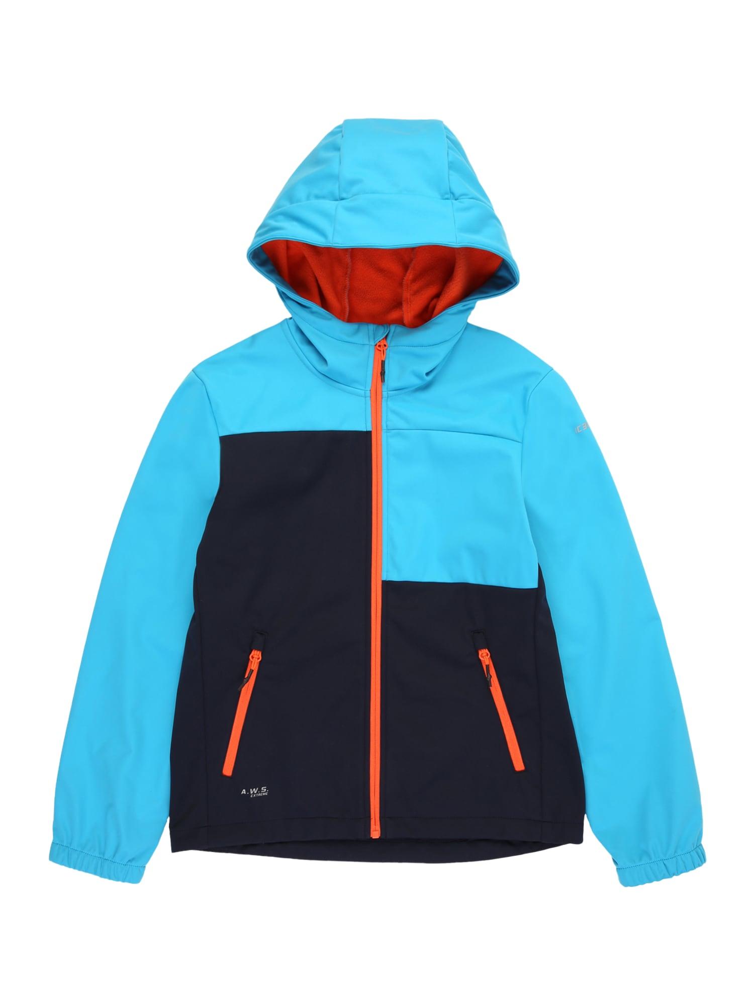 ICEPEAK Laisvalaikio striukė 'Kars' nakties mėlyna / mėlyna / šviesiai oranžinė