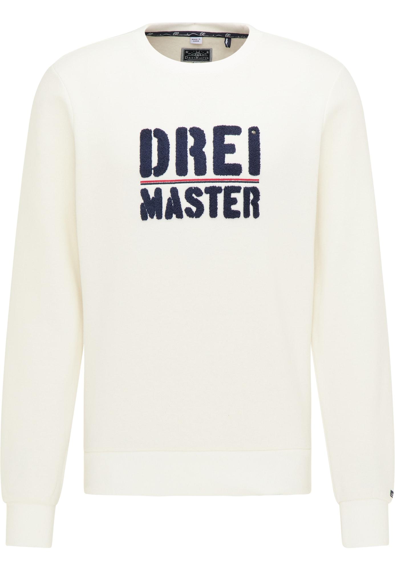 DreiMaster Maritim Megztinis be užsegimo tamsiai mėlyna / balta