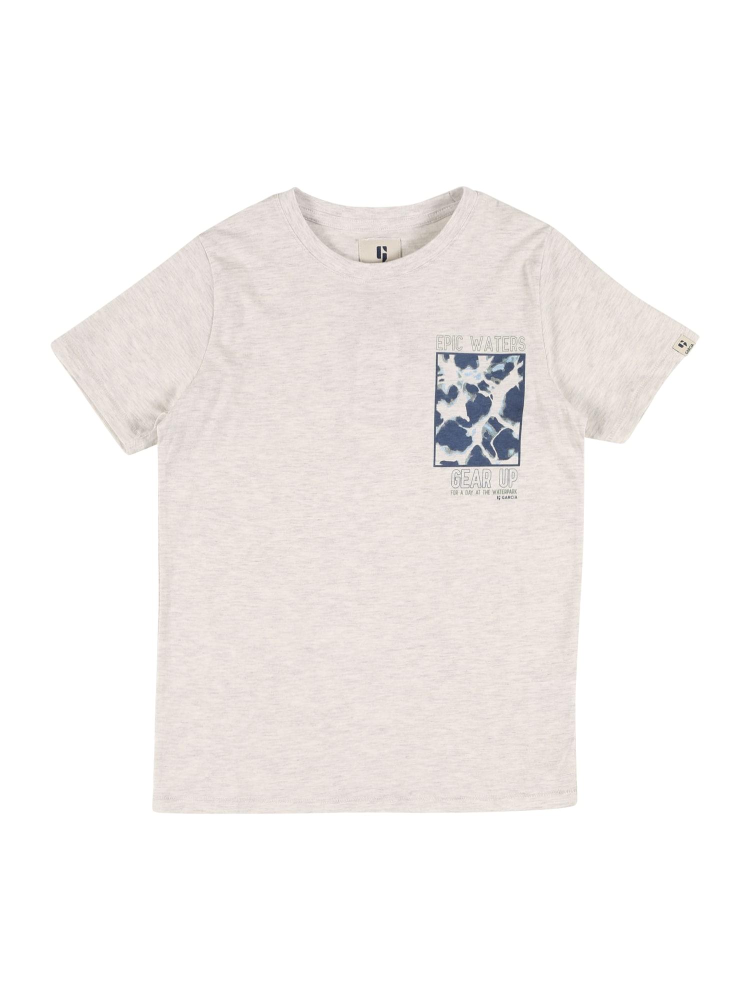 GARCIA Marškinėliai balta / melsvai pilka