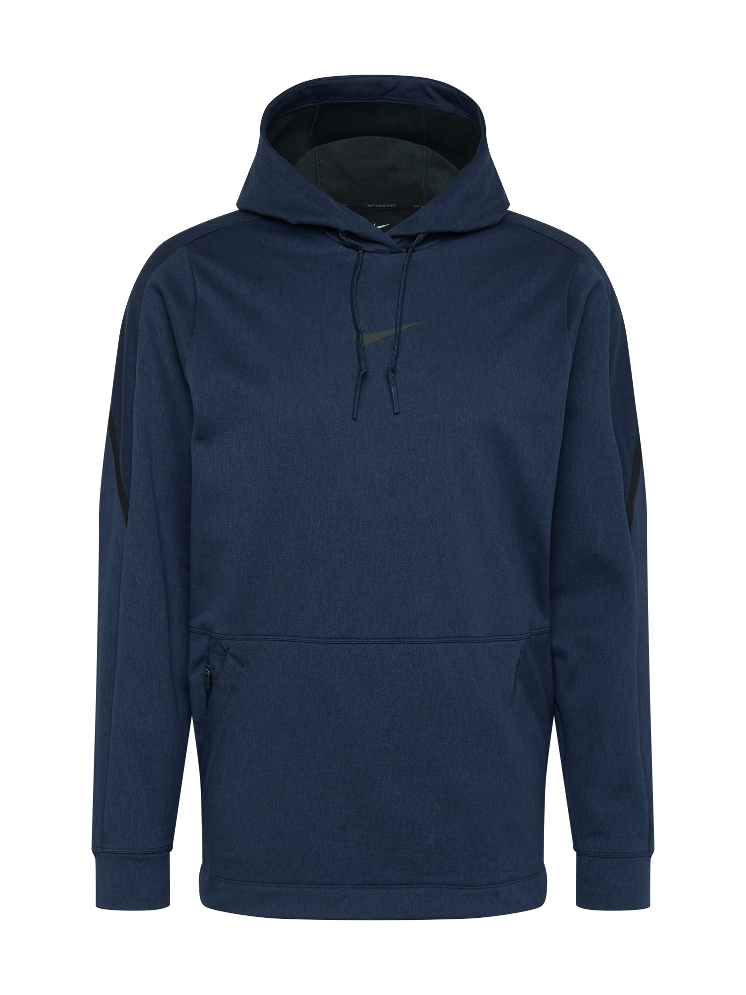 NIKE Sportinio tipo megztinis juoda / tamsiai mėlyna