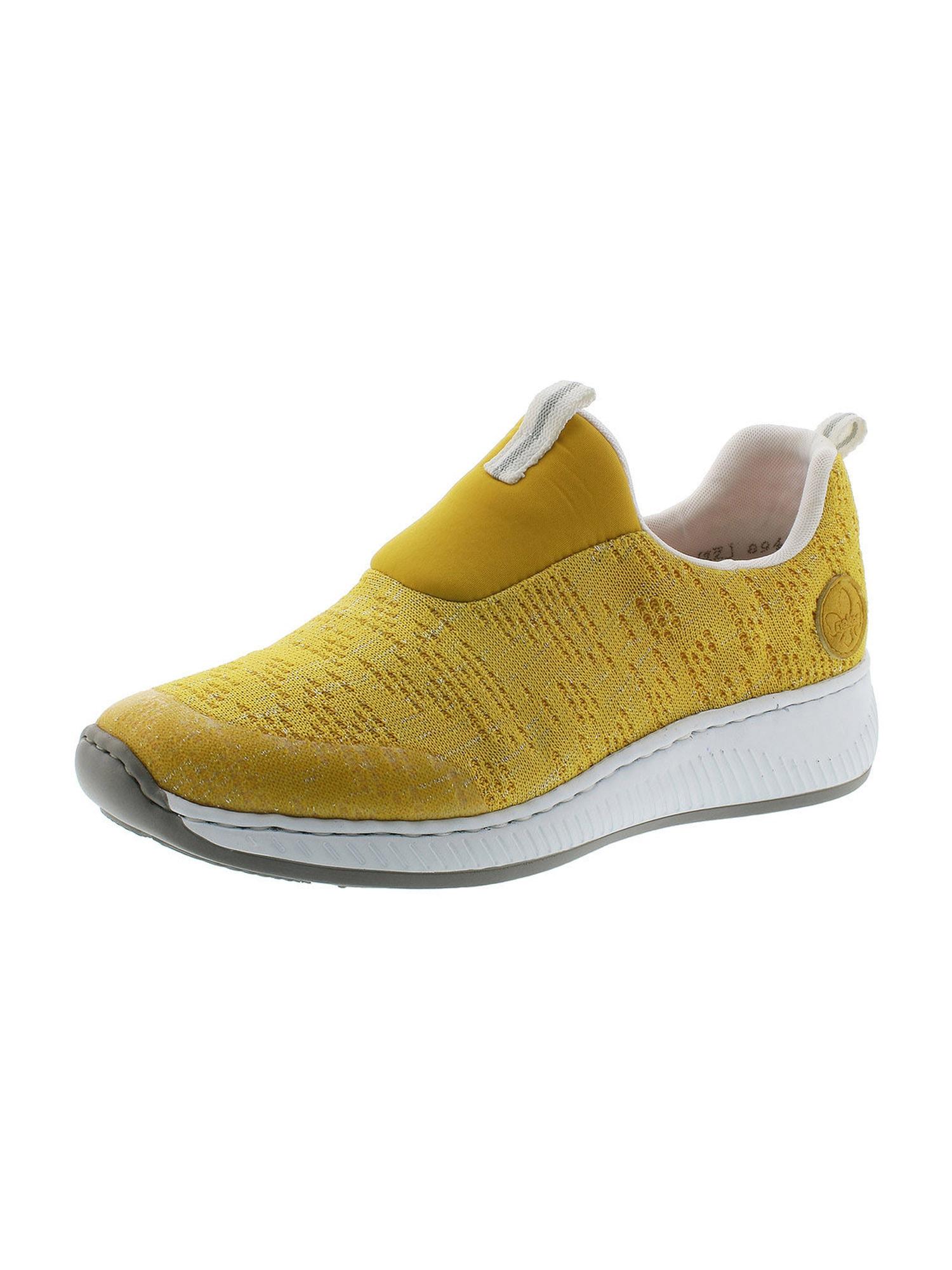 RIEKER Batai be raištelių margai geltona