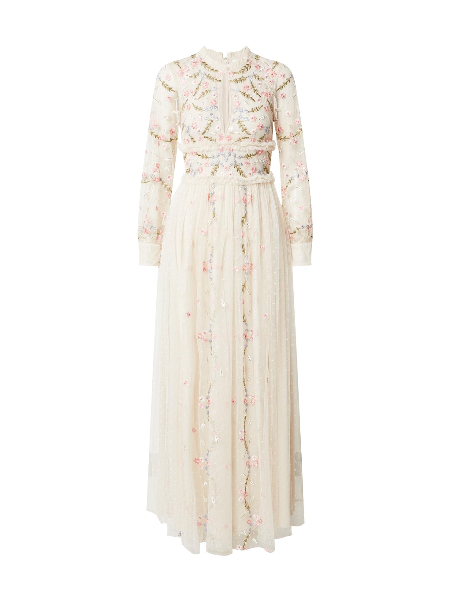 Frock and Frill Vakarinė suknelė balkšva / žalia / šviesiai mėlyna / šviesiai rožinė