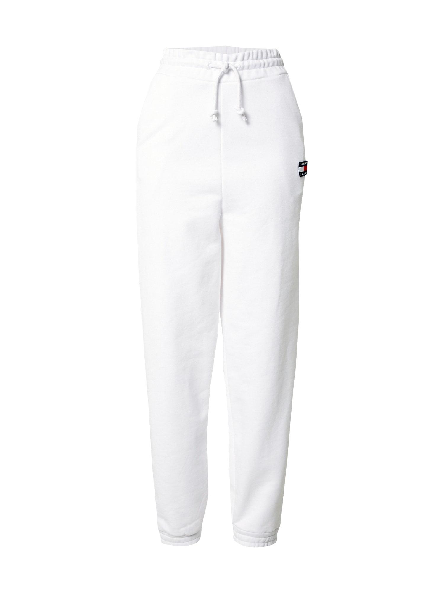 Tommy Jeans Kelnės balta / juoda / tamsiai mėlyna / raudona