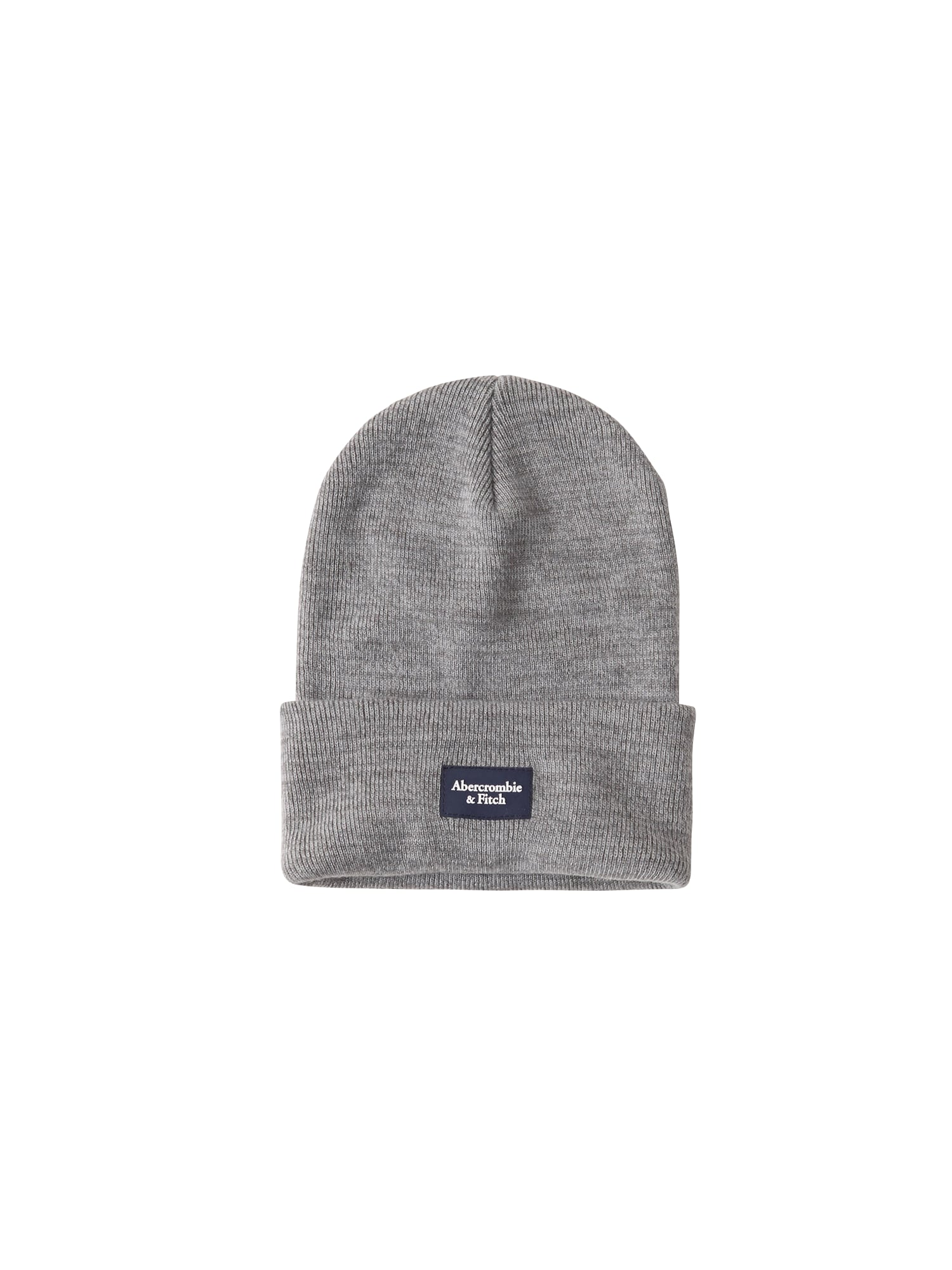 Abercrombie & Fitch Čepice 'BEANIE F'20 CORE TURN UP'  šedá