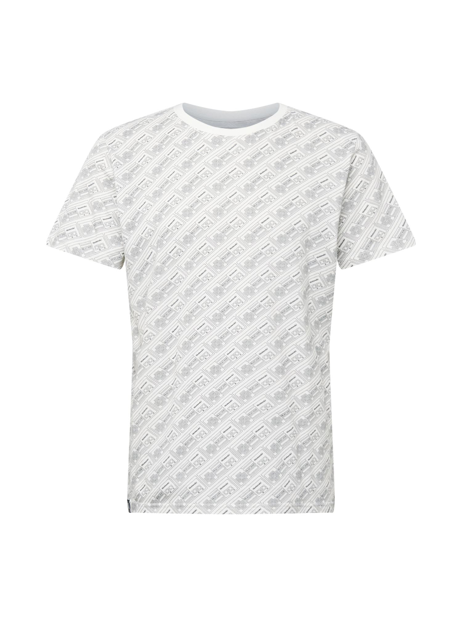 DEDICATED. Marškinėliai 'Stockholm NES Line Control' balta / juoda