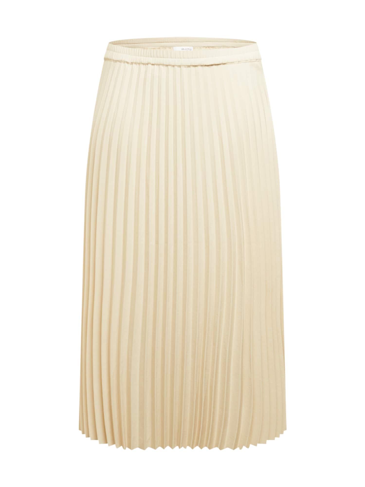 Selected Femme Curve Sijonas smėlio spalva