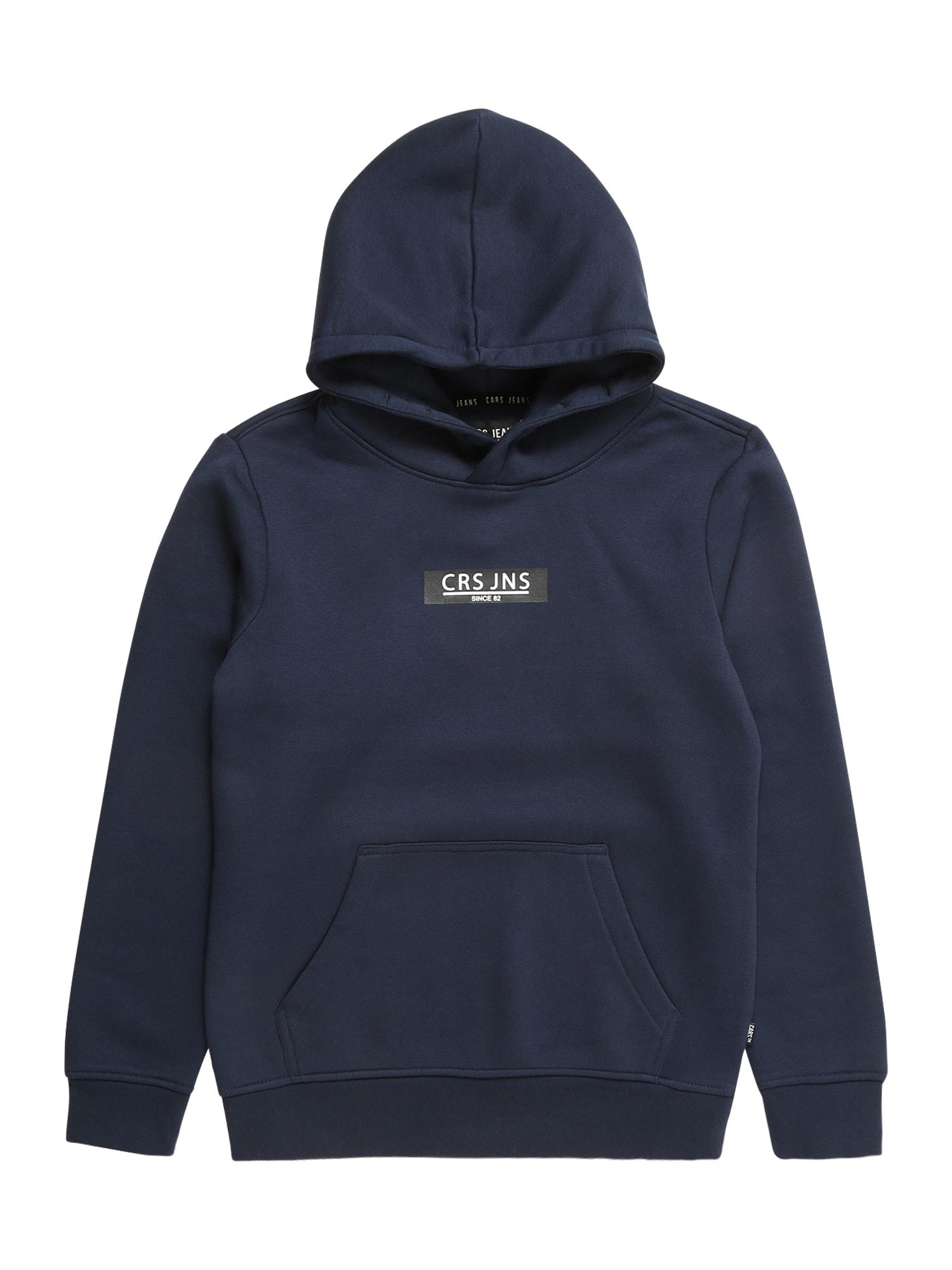 Cars Jeans Mikina 'PEARSER '  námořnická modř / černá / bílá