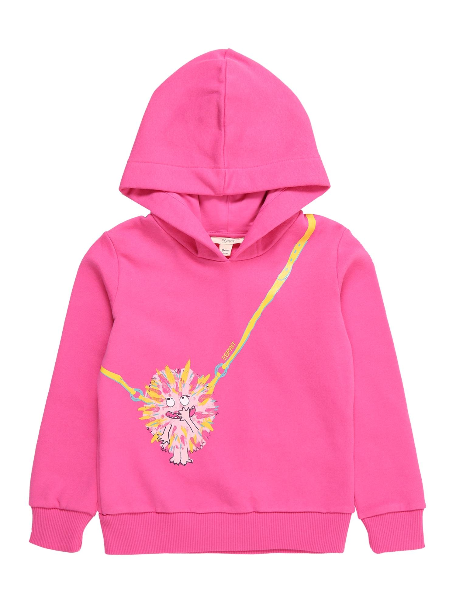 ESPRIT Mikina  pink / žlutá / světle růžová