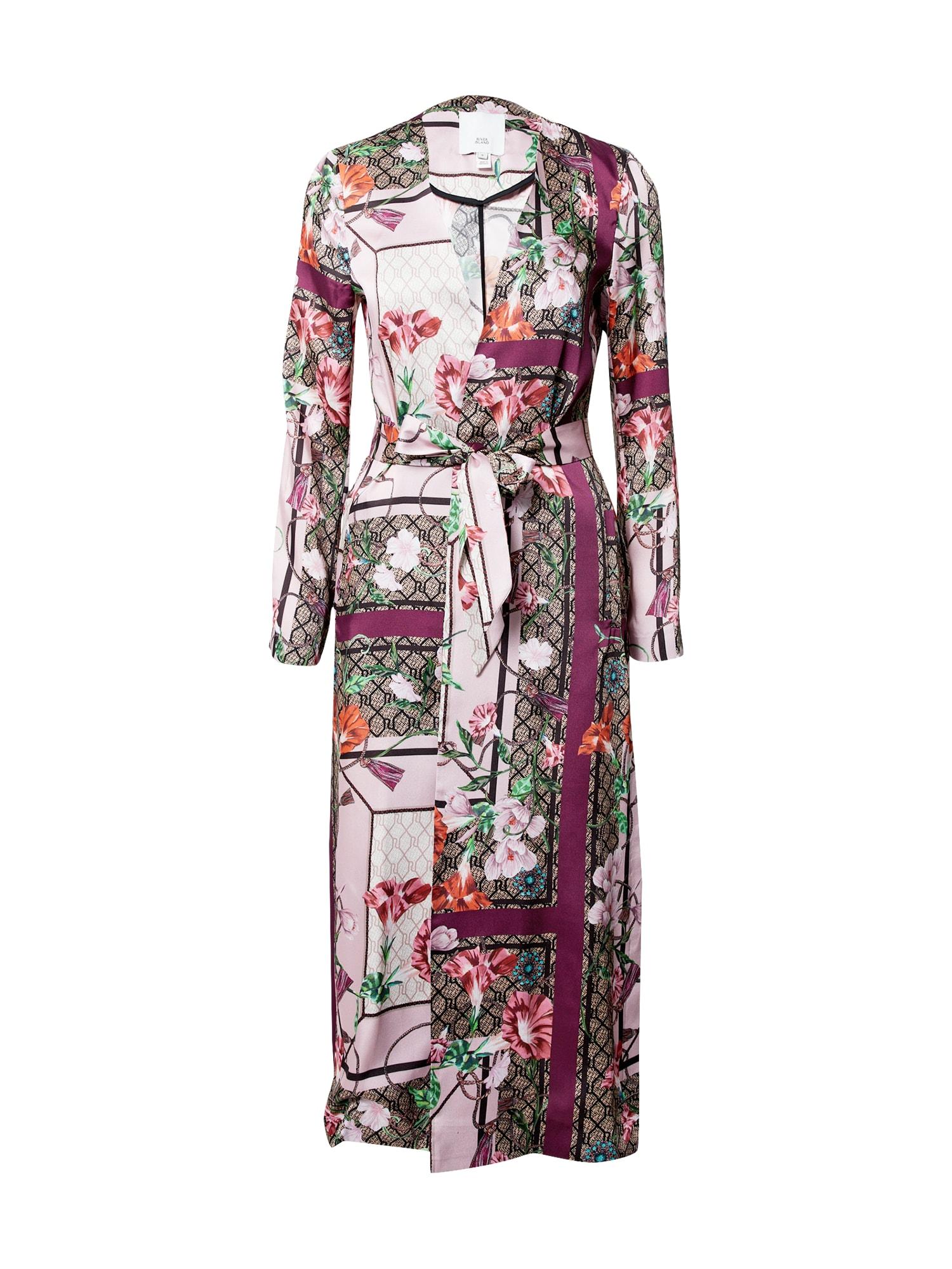River Island Demisezoninis paltas rožinė / mišrios spalvos