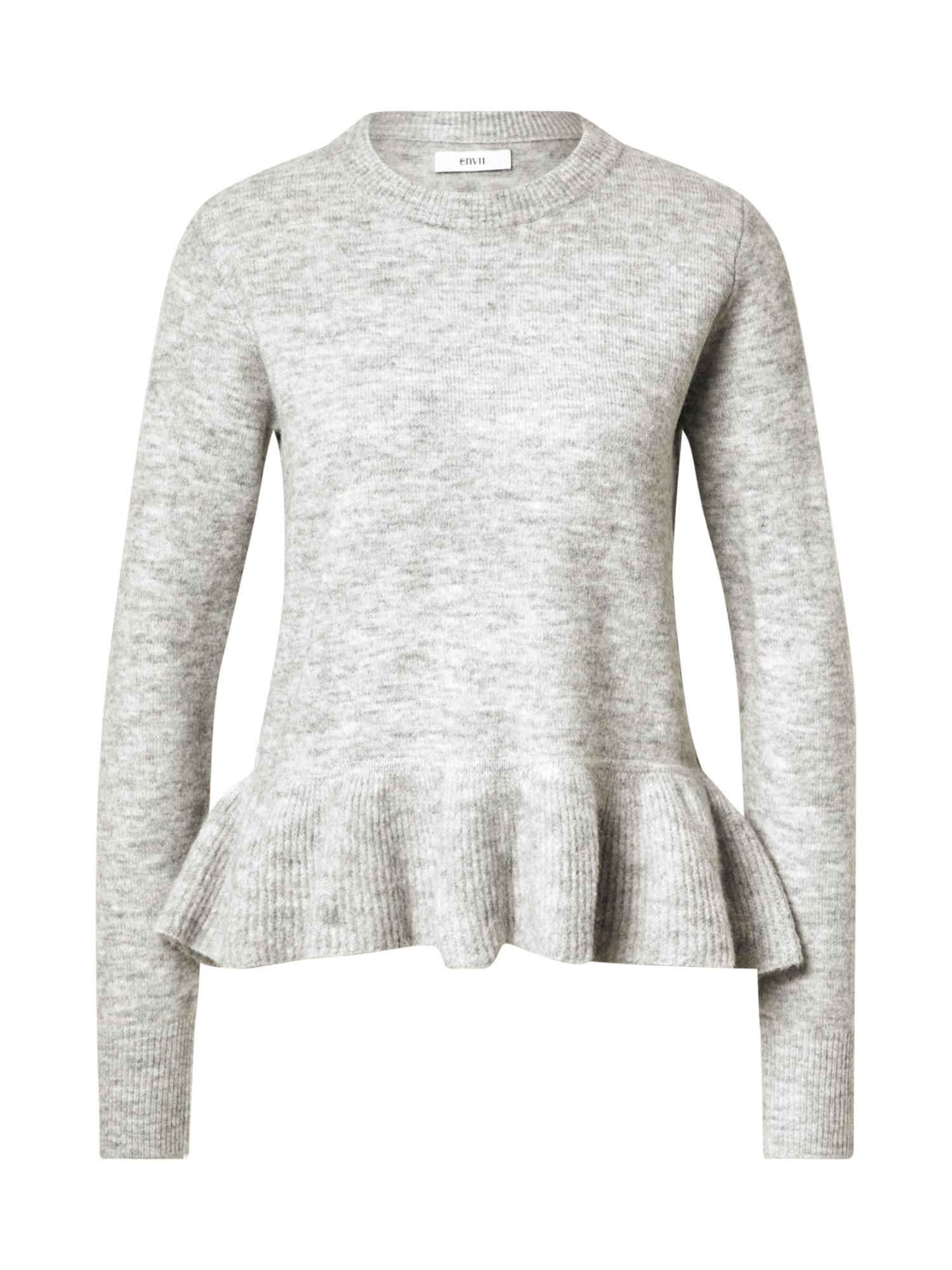Envii Megztinis margai pilka