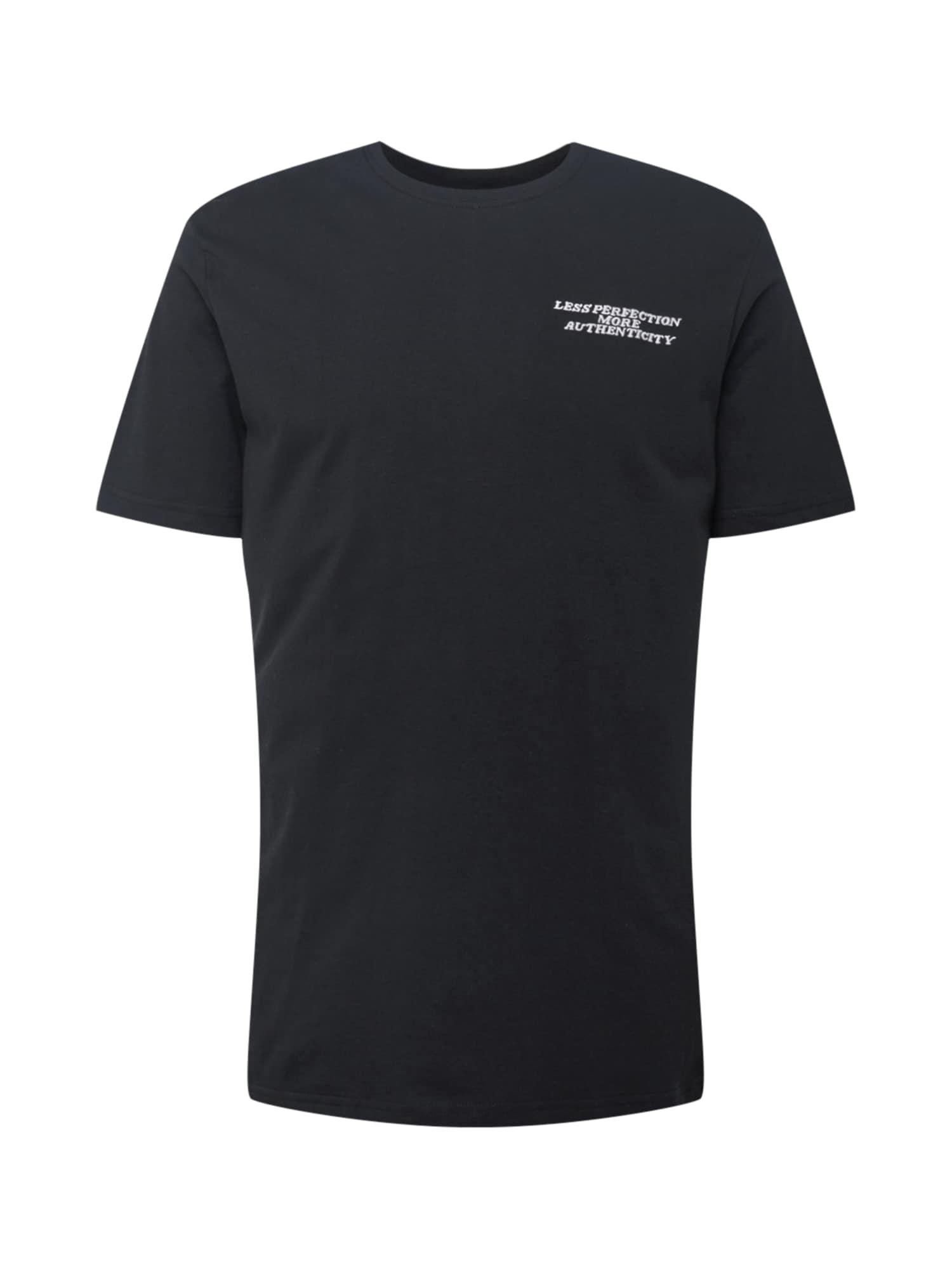 Rethink Status Marškinėliai juoda / balta / šviesiai violetinė / turkio spalva