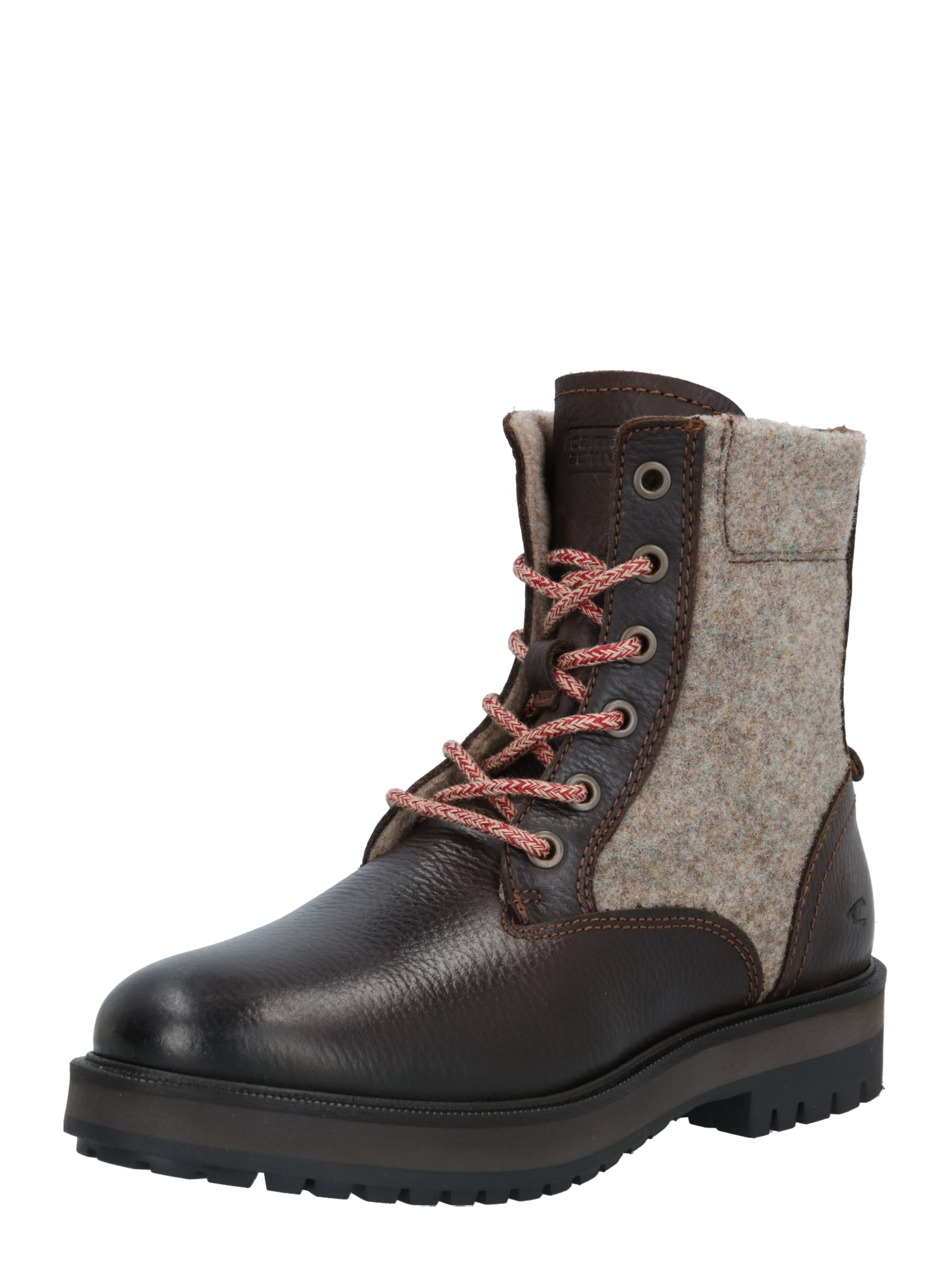 CAMEL ACTIVE Suvarstomieji kulkšnis dengiantys batai tamsiai ruda / marga smėlio spalva