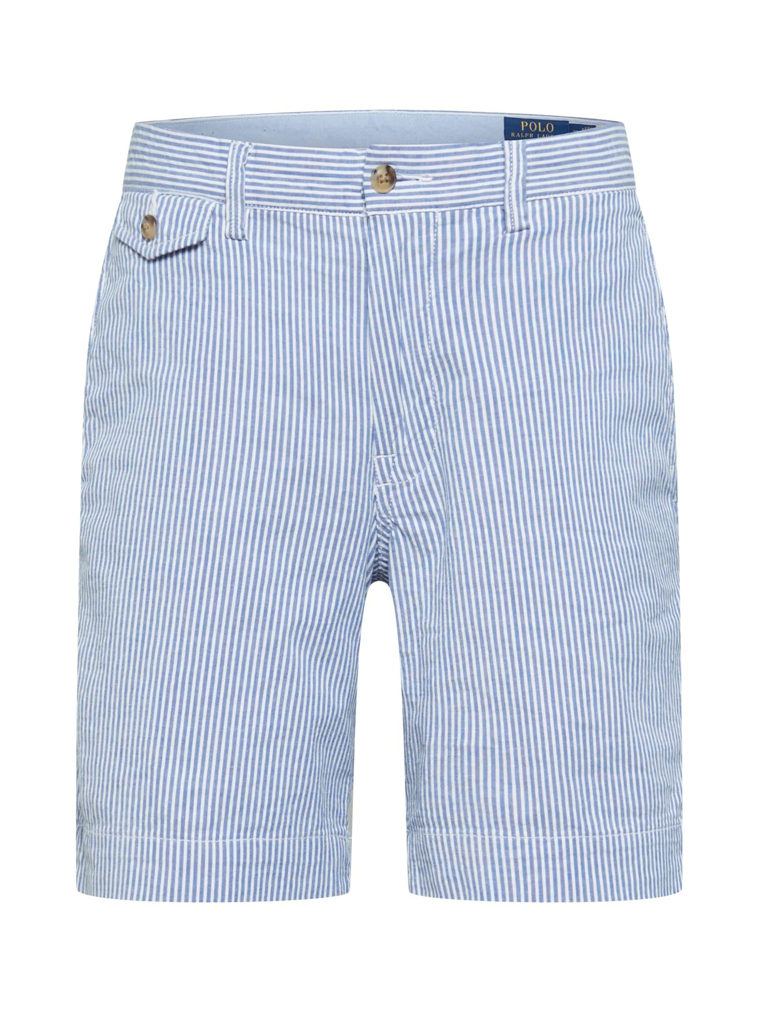 """POLO RALPH LAUREN """"Chino"""" stiliaus kelnės balta / šviesiai mėlyna"""