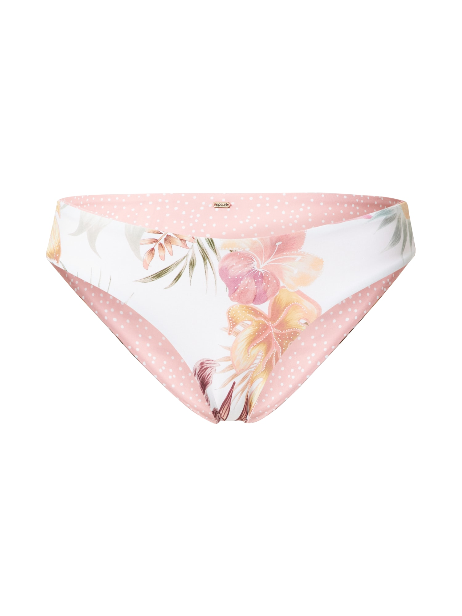 RIP CURL Bikinio kelnaitės natūrali balta / ruda / žalia / rožių spalva