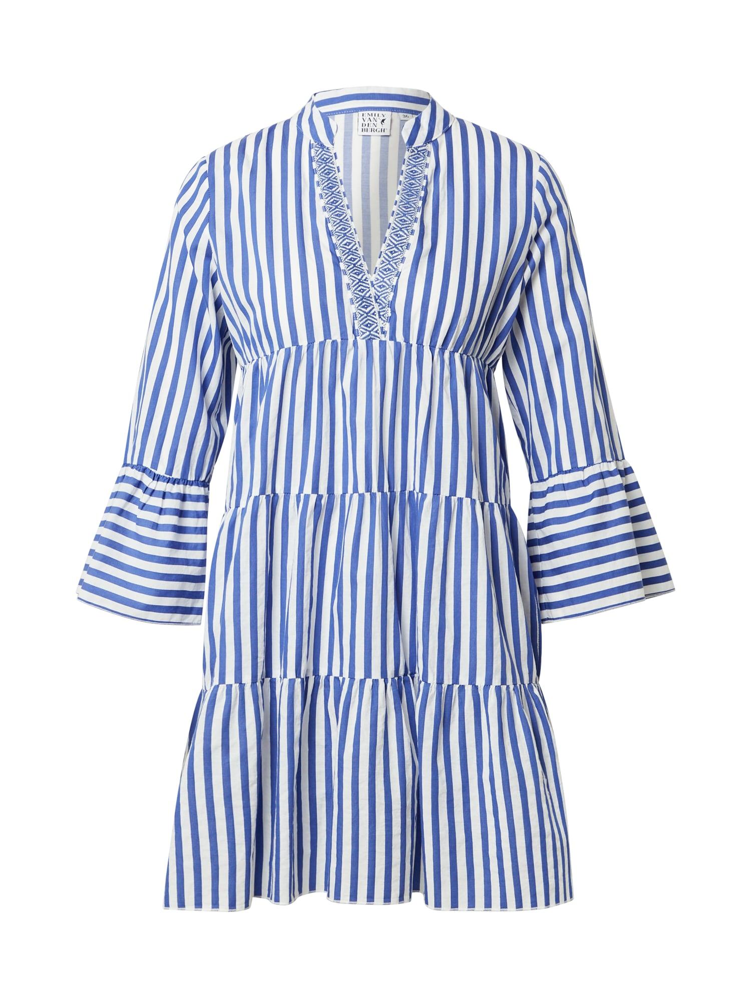 Emily Van Den Bergh Suknelė balta / mėlyna