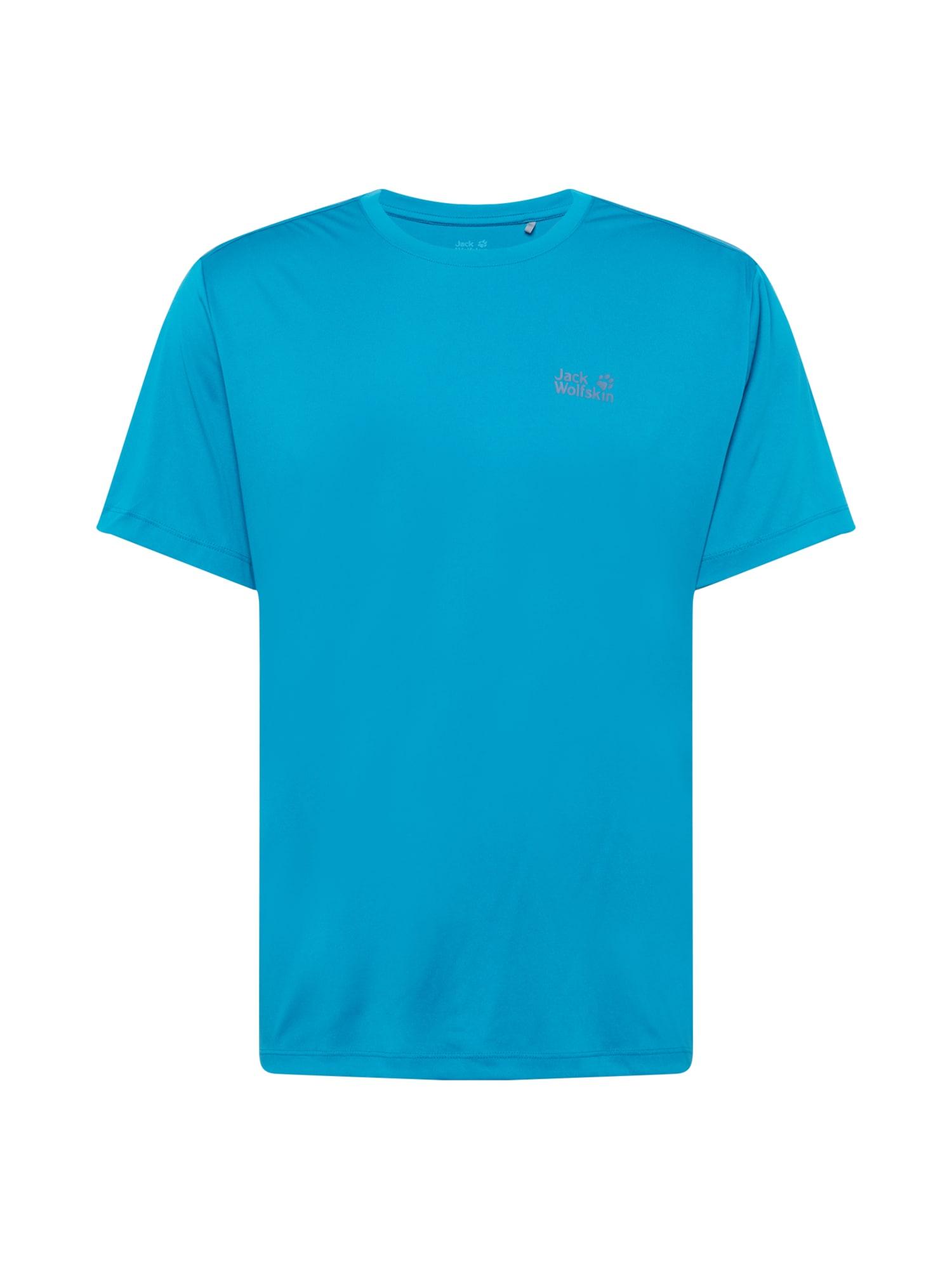JACK WOLFSKIN Funkční tričko  nebeská modř / šedá