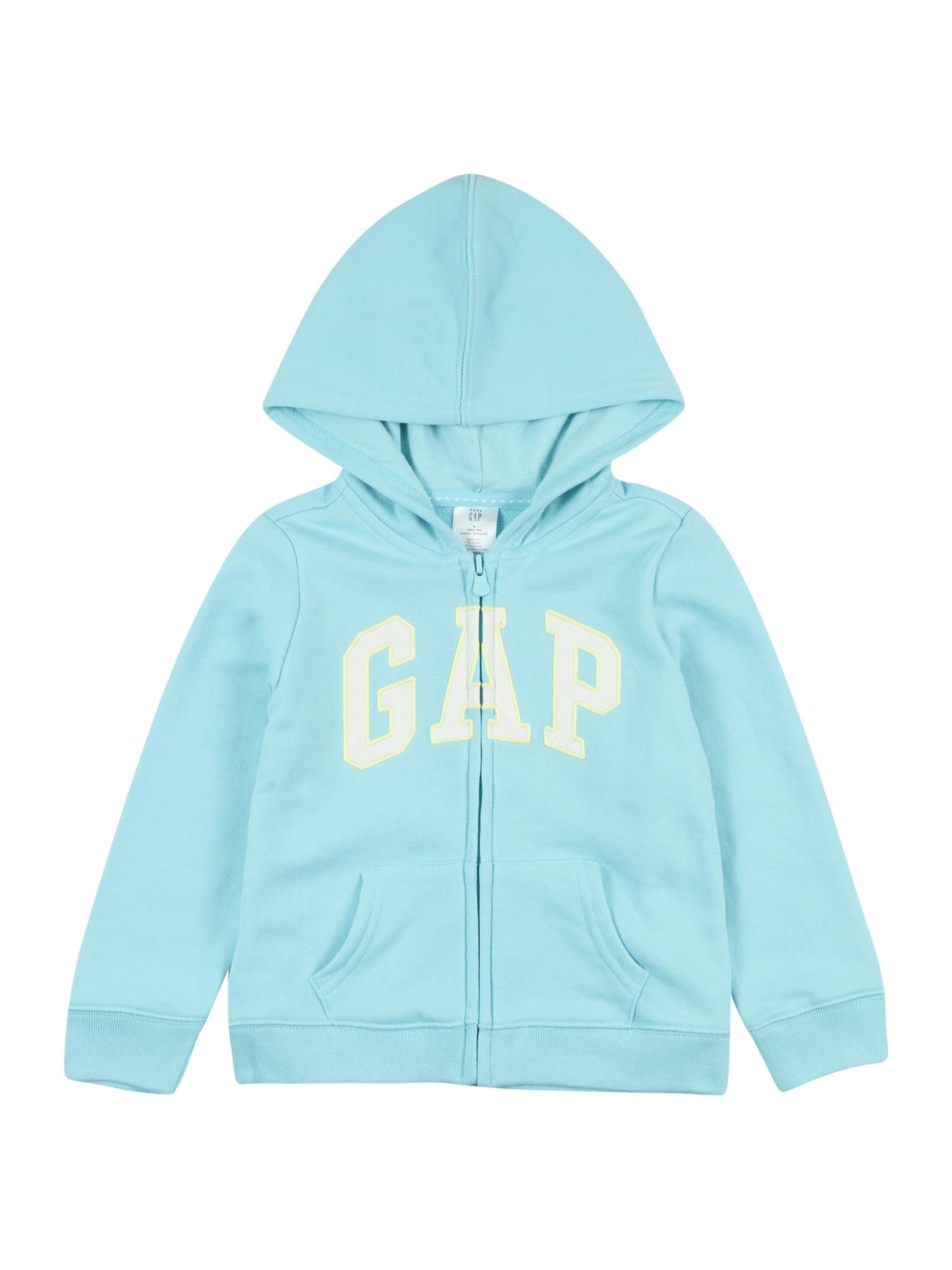 GAP Džemperis šviesiai mėlyna / balta / geltona